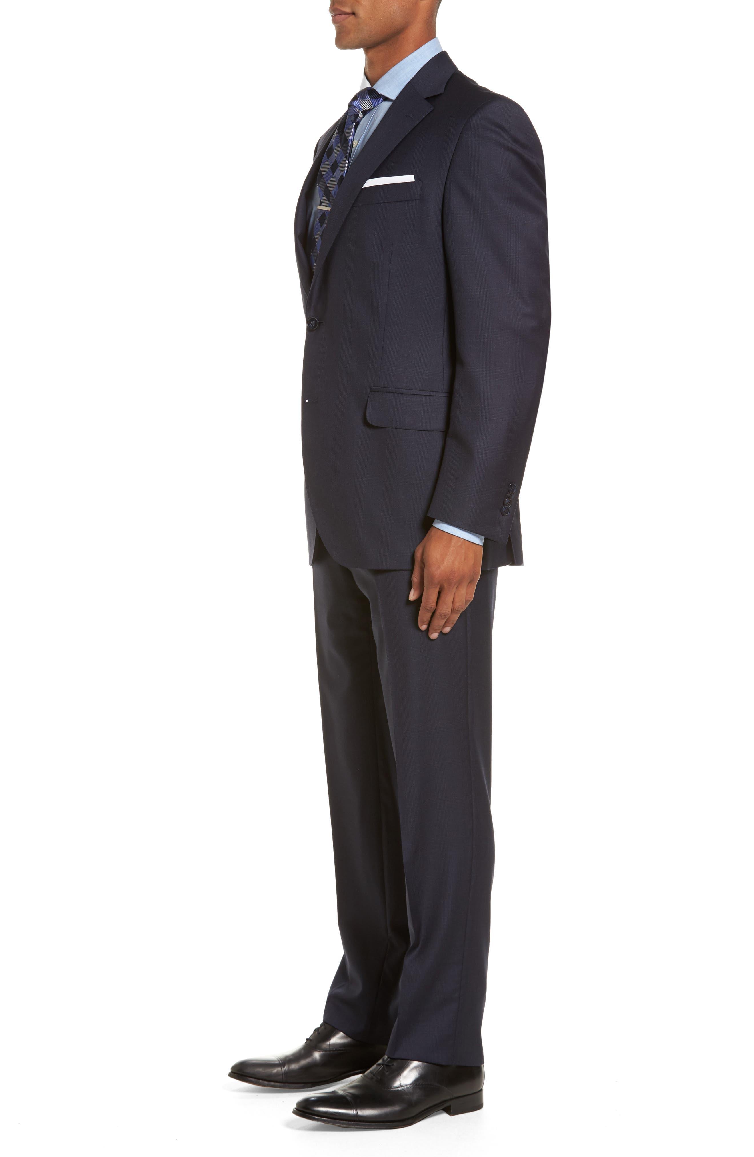 Flynn Classic Fit Plaid Wool Suit,                             Alternate thumbnail 3, color,                             410