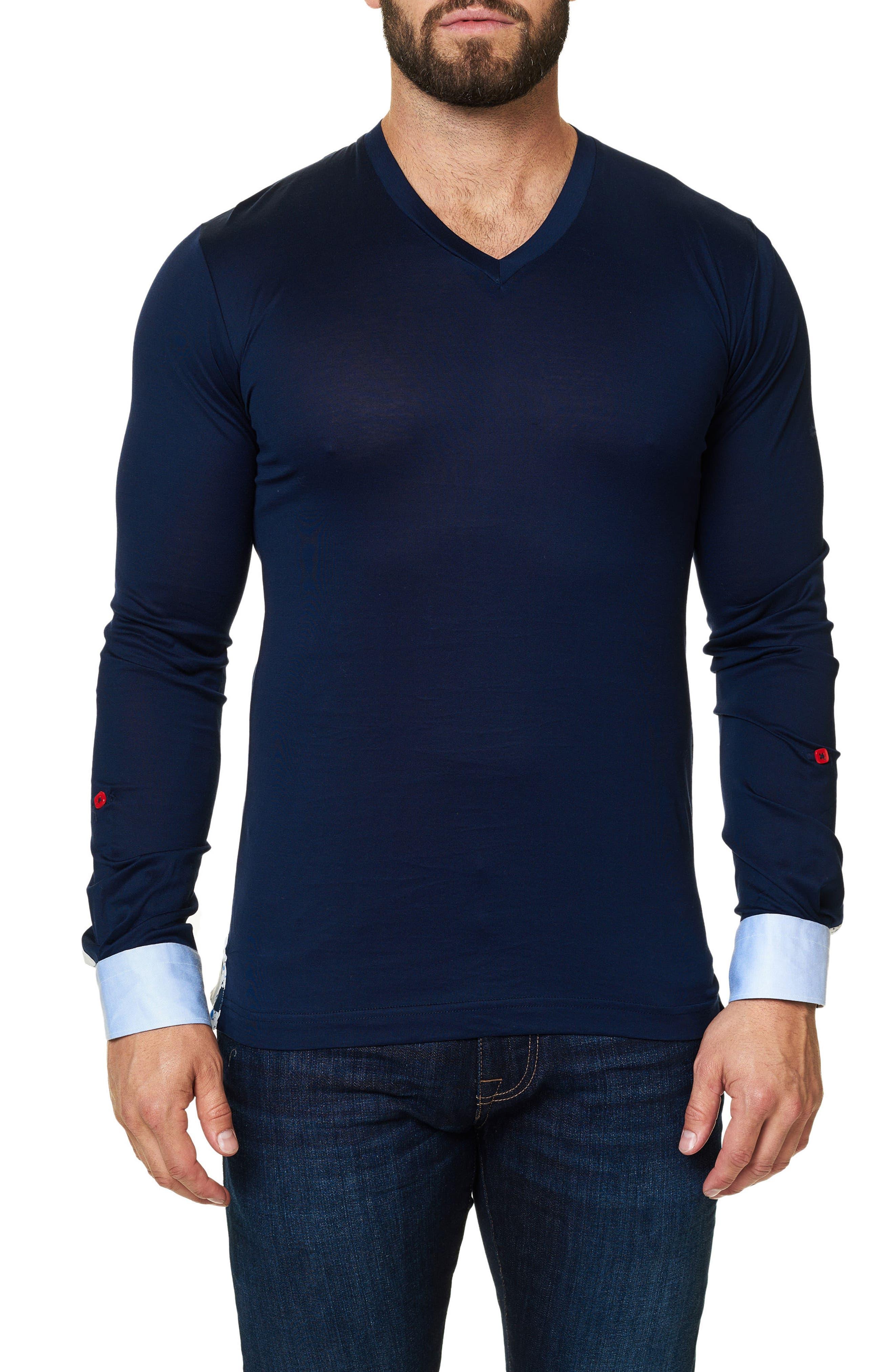 Long Sleeve V-Neck,                         Main,                         color, 410