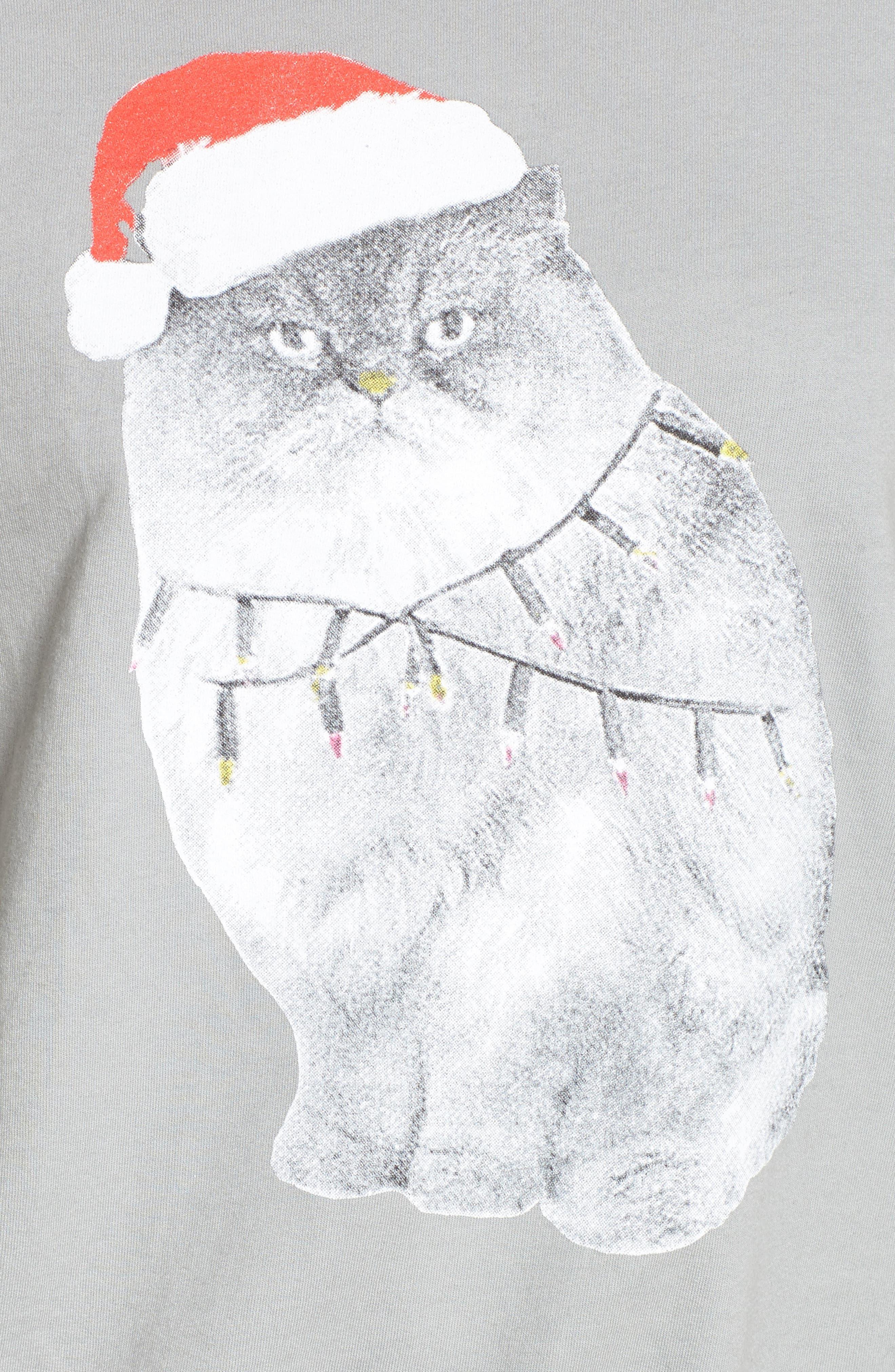 Xmas Kitty Sweatshirt,                             Alternate thumbnail 5, color,