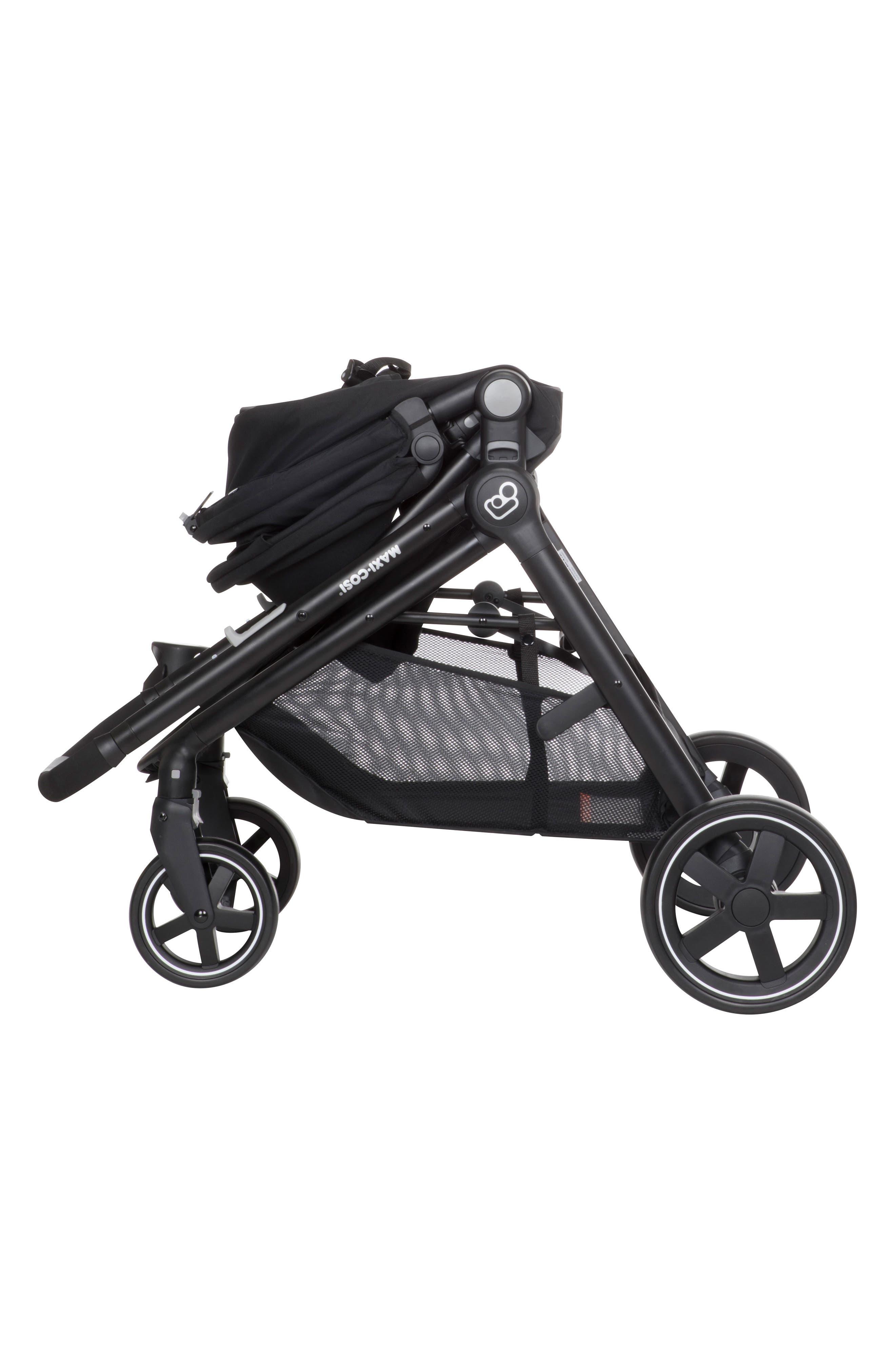 5-1 Mico 30 Infant Car Seat & Zelia Stroller Modular Travel System,                             Alternate thumbnail 9, color,                             NIGHT BLACK