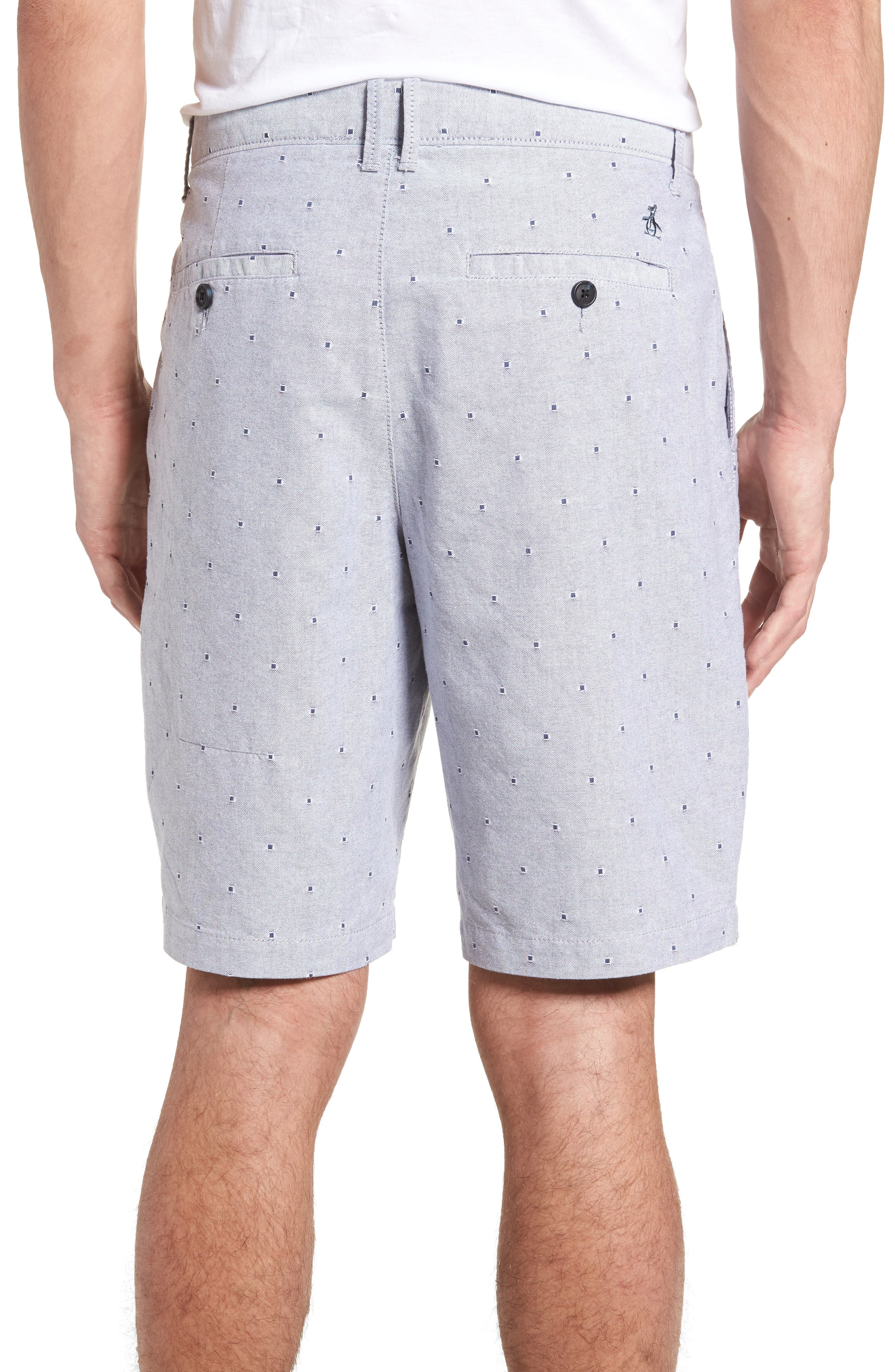 Dobby Dot Slim Fit Oxford Shorts,                             Alternate thumbnail 3, color,