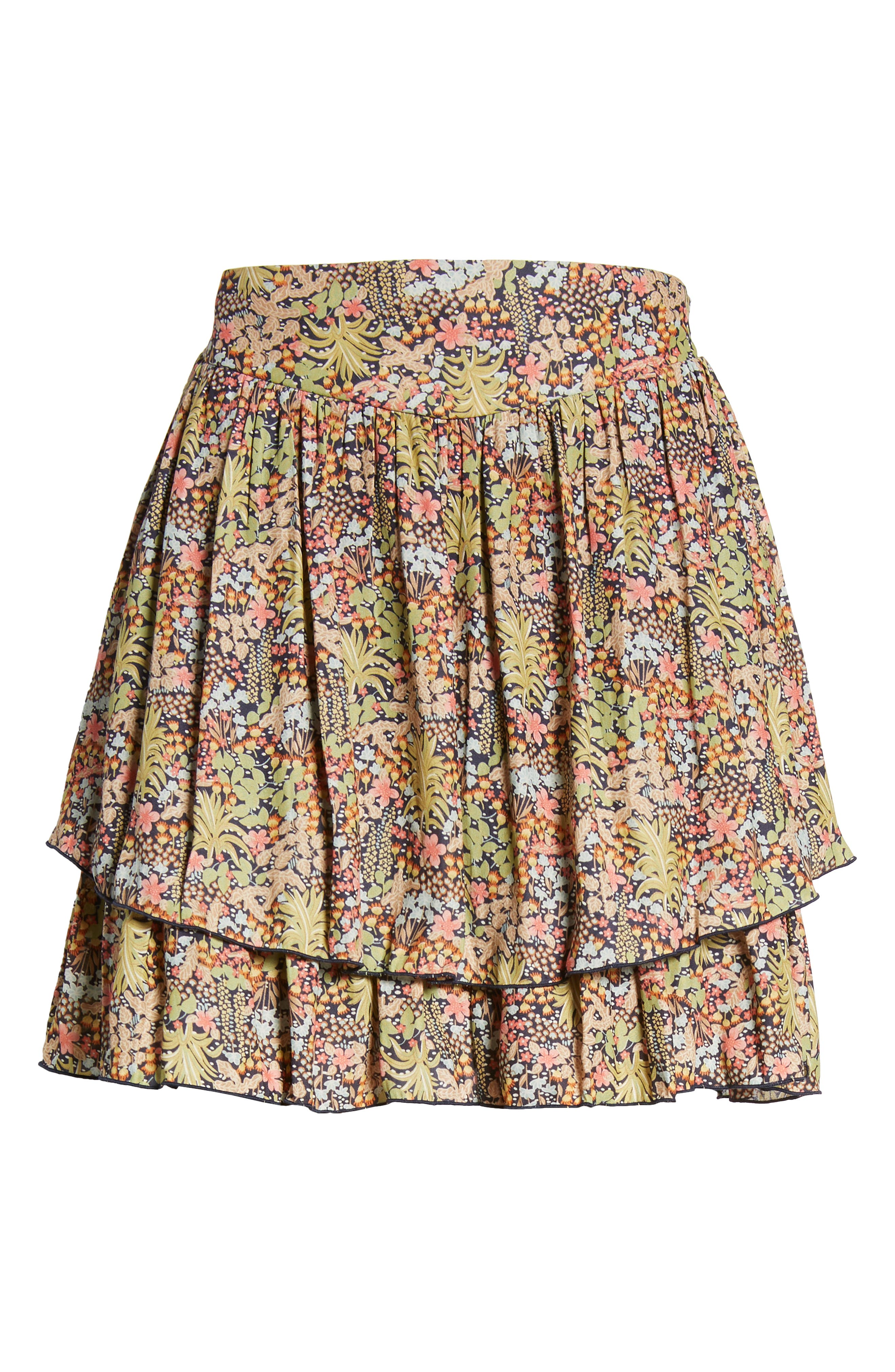 Double Layer Miniskirt,                             Alternate thumbnail 6, color,                             301