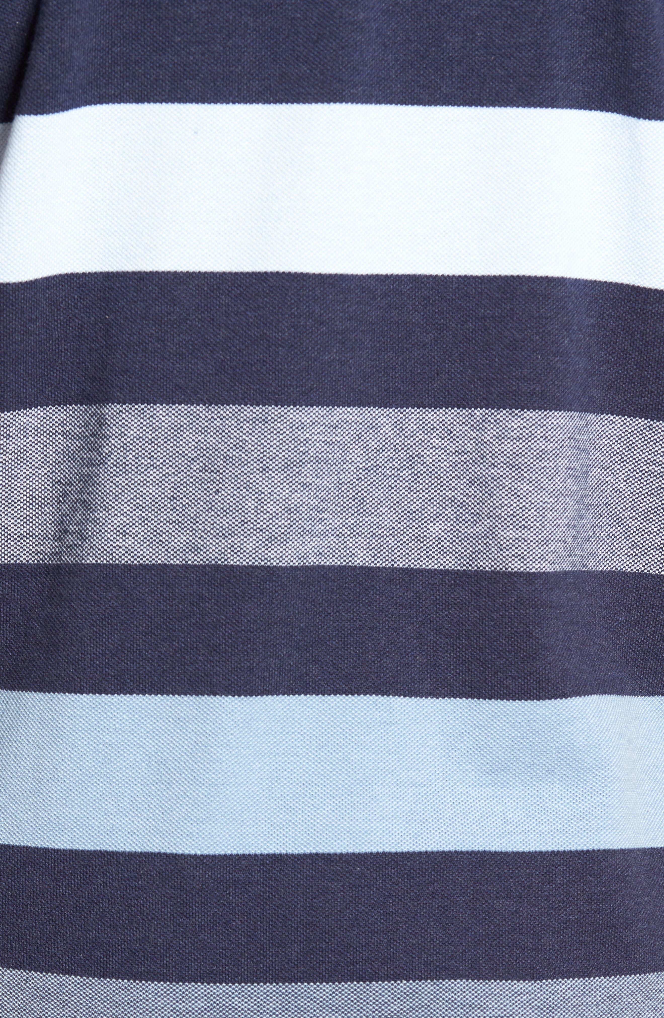 Hutt Valley Stripe Piqué Polo,                             Alternate thumbnail 5, color,                             401
