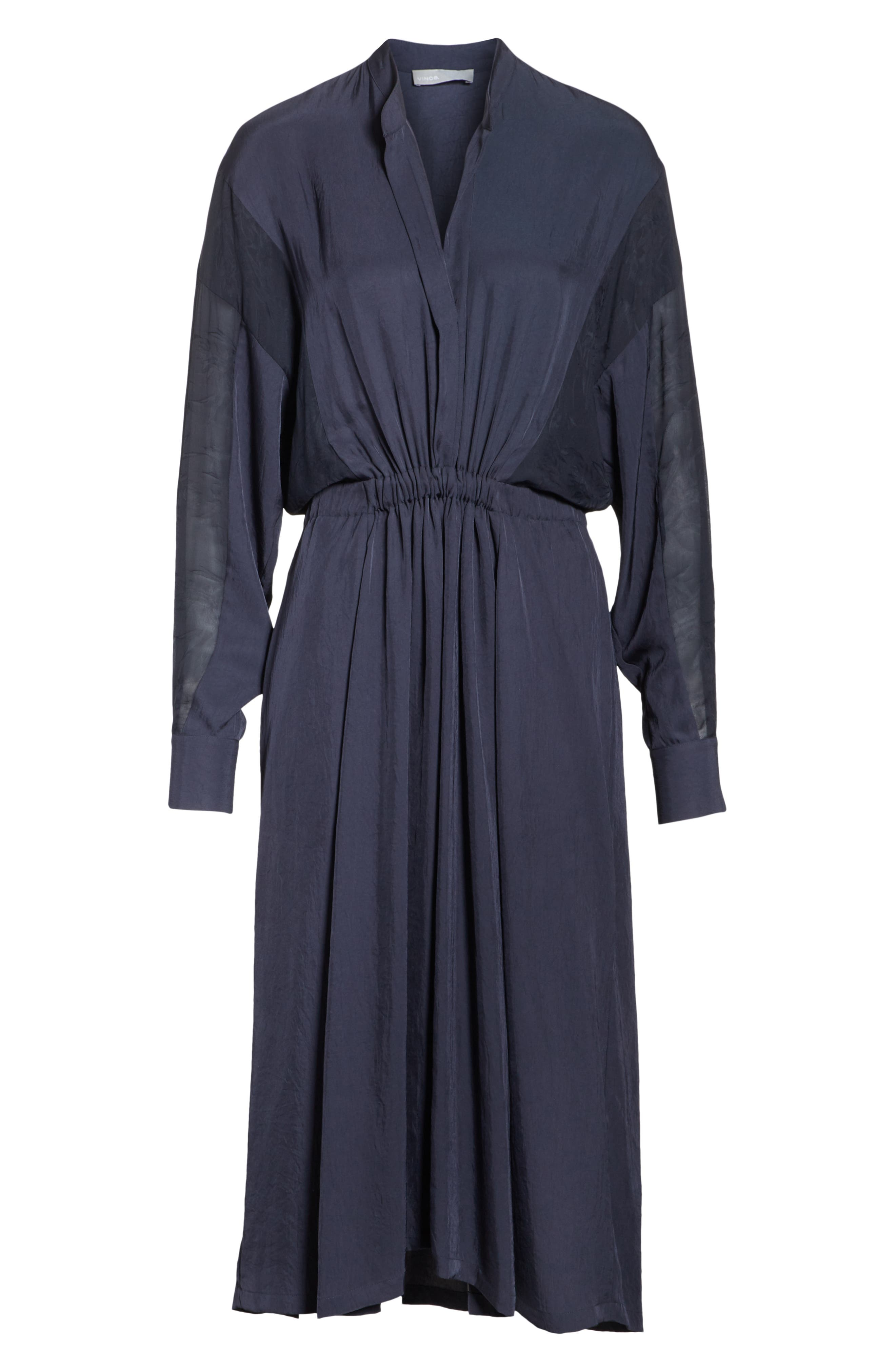 Mixed Media Midi Dress,                             Alternate thumbnail 6, color,                             403