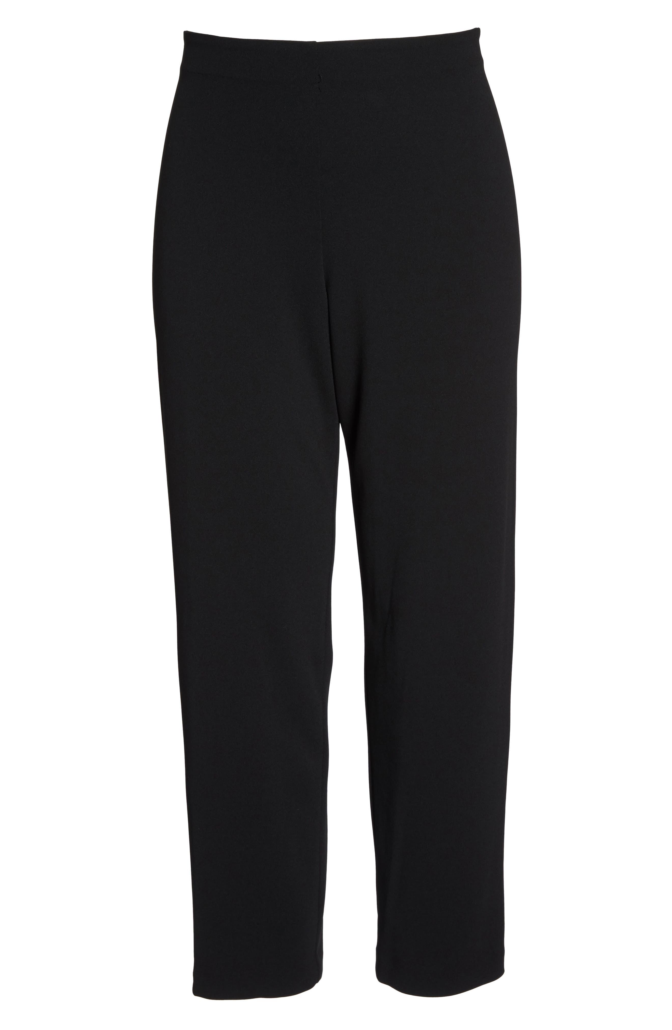 Slim Leg Pants,                             Alternate thumbnail 6, color,                             BLACK