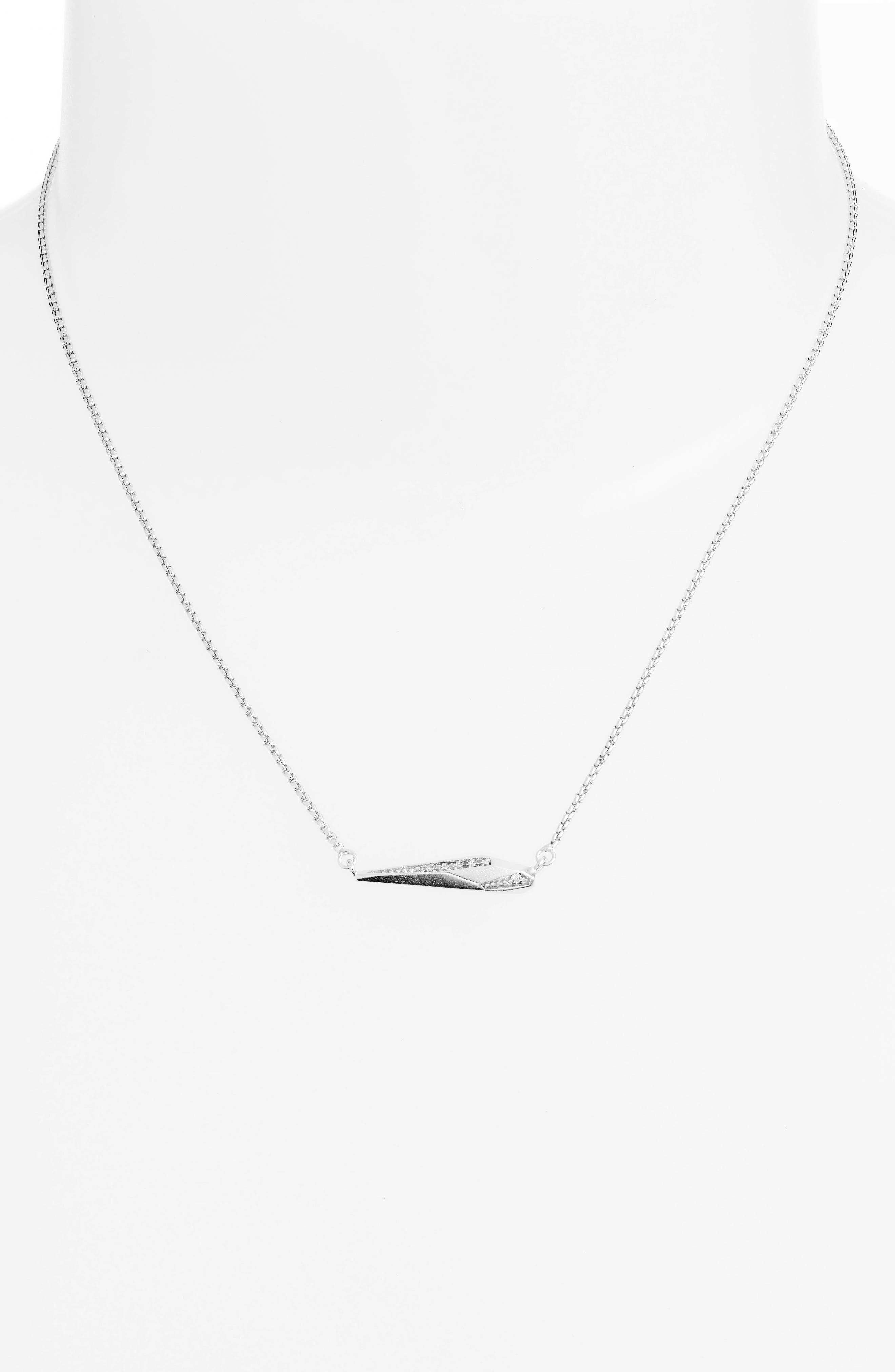 Tabitha Crystal Dagger Necklace,                         Main,                         color, 040