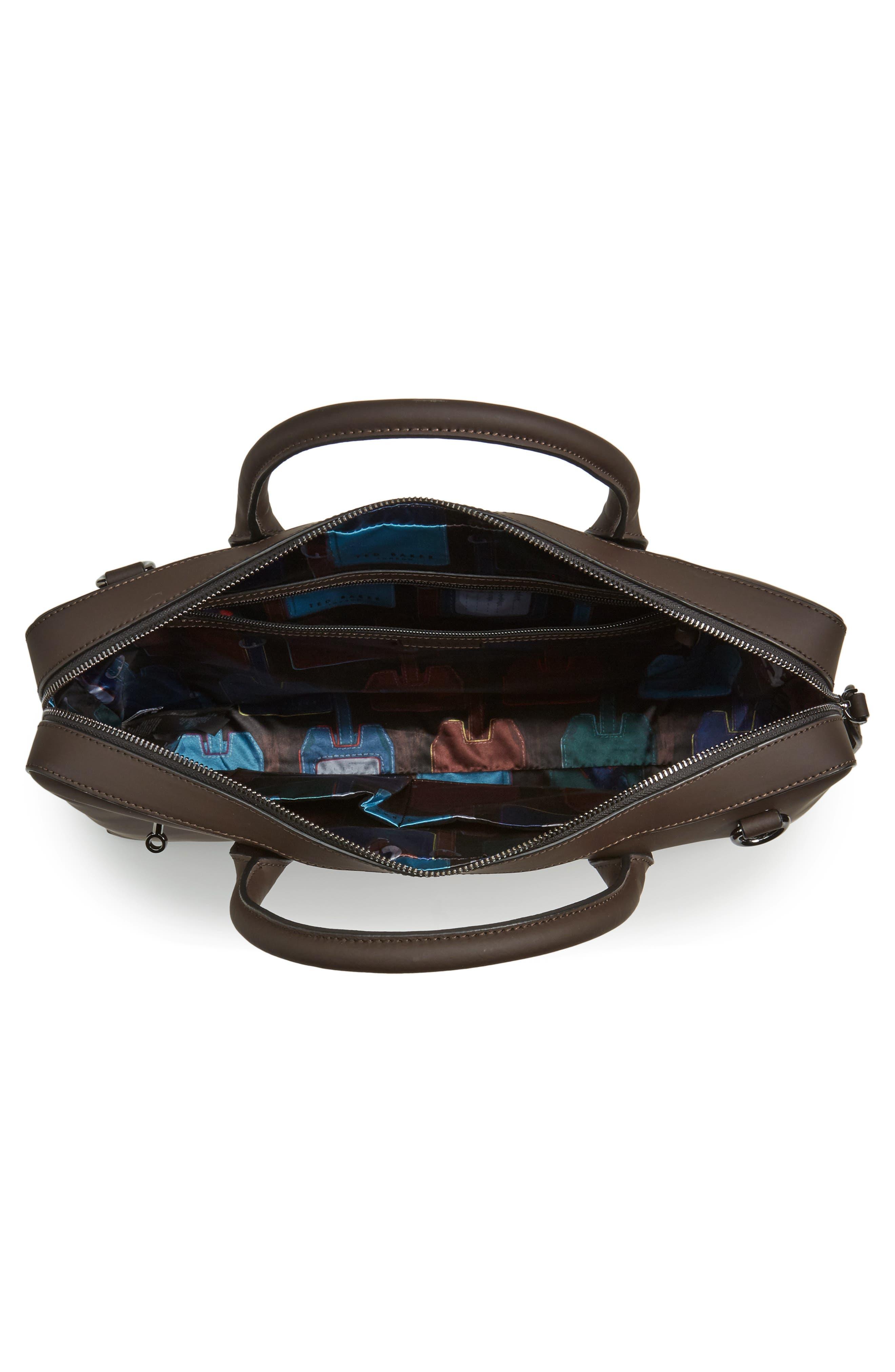 Ozboz Leather Briefcase,                             Alternate thumbnail 4, color,                             214