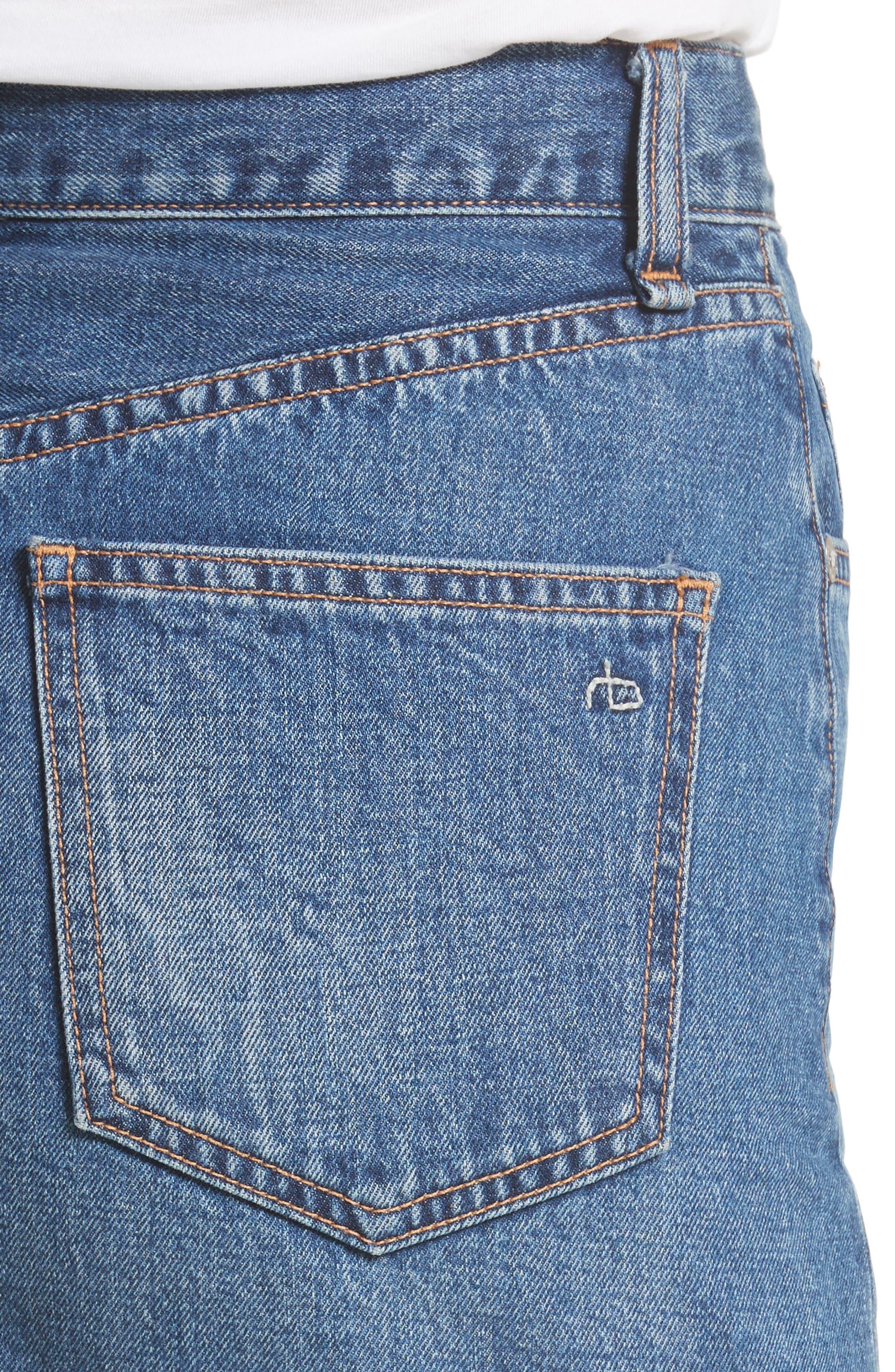 Dive Denim Skirt,                             Alternate thumbnail 4, color,                             472