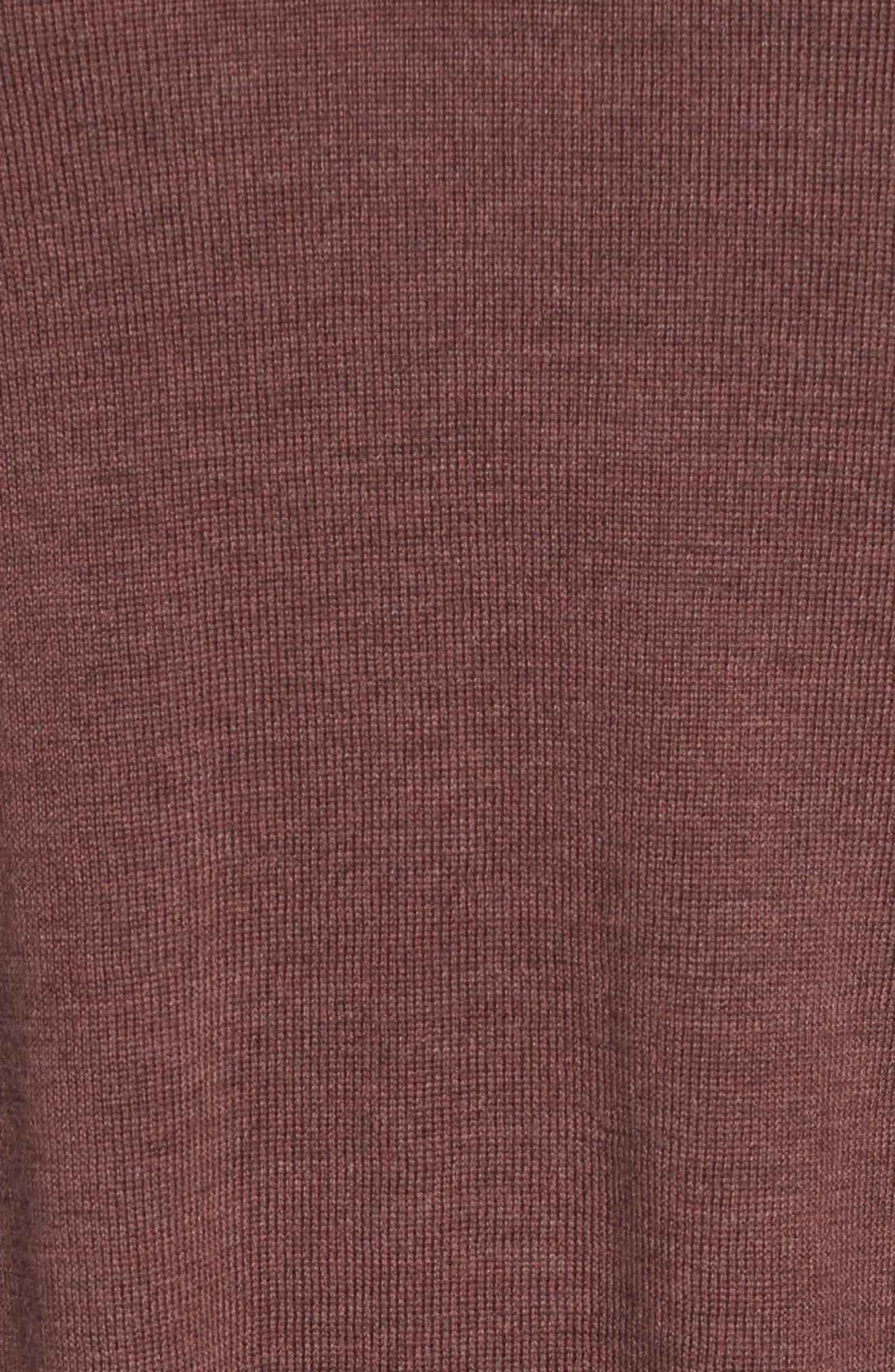 Lightweight Merino Jersey V-Neck Tunic,                             Alternate thumbnail 90, color,