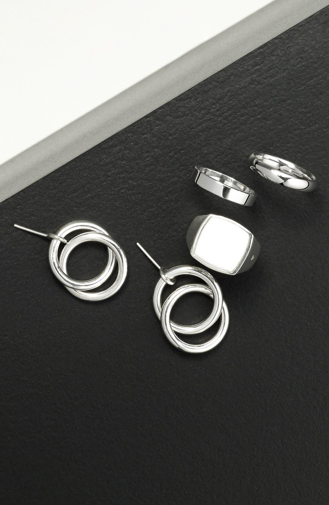 White Agate Cushion Signet Ring,                             Alternate thumbnail 3, color,                             042