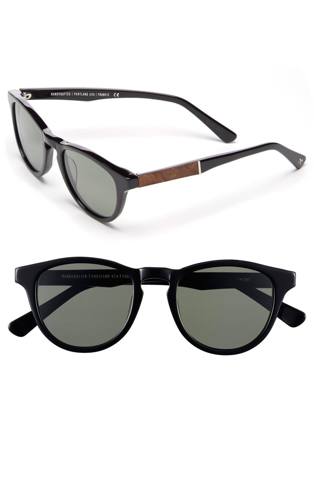'Francis' 49mm Polarized Sunglasses,                             Main thumbnail 6, color,