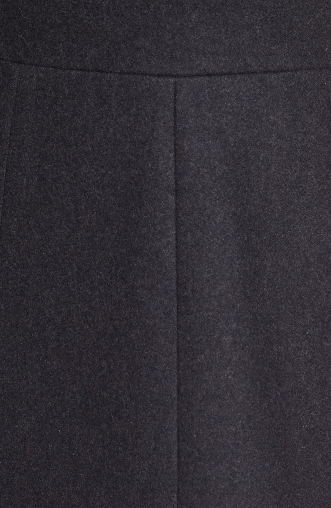 Wool Blend Hooded Coat,                             Alternate thumbnail 5, color,
