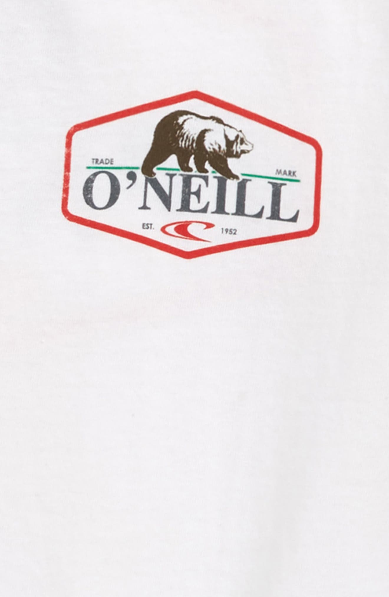 O'NEILL,                             Bear T-Shirt,                             Alternate thumbnail 3, color,                             100