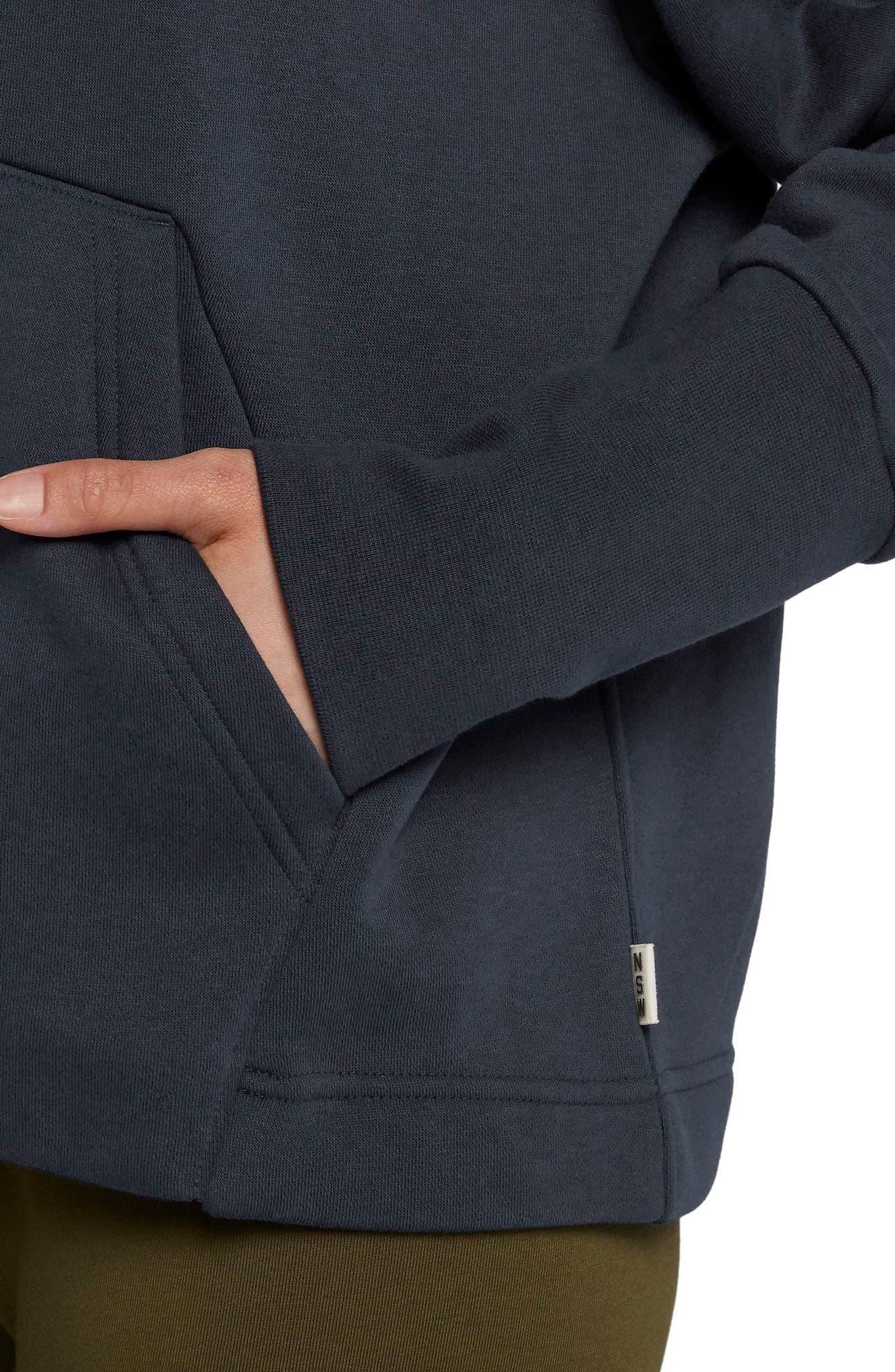 NIKE,                             Sportswear NSW Women's Fleece Hoodie,                             Alternate thumbnail 3, color,                             DARK OBSIDIAN/ OLIVE