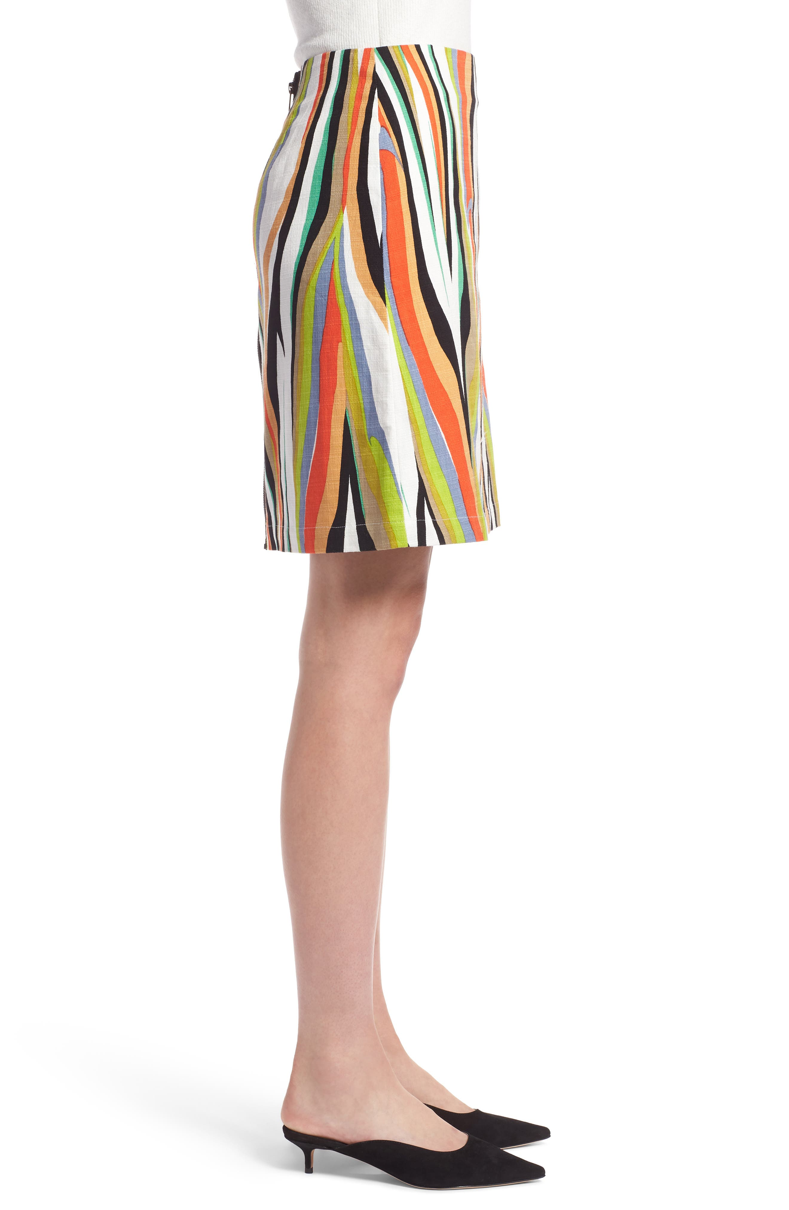 Stripe Skirt,                             Alternate thumbnail 3, color,                             900