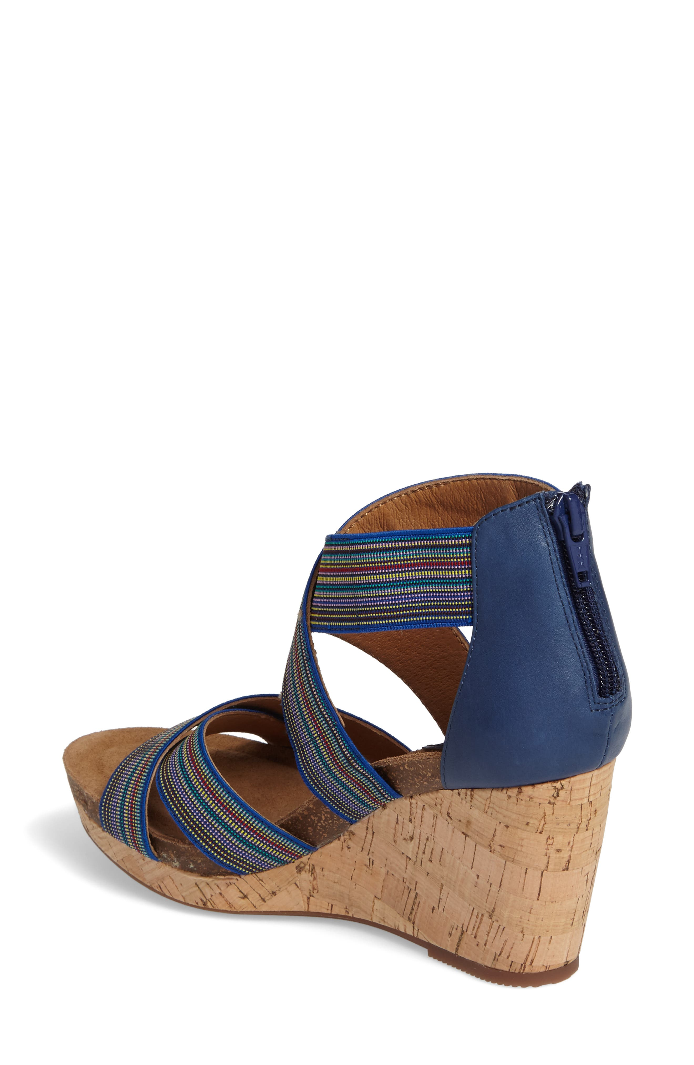 Cary Cross Strap Wedge Sandal,                             Alternate thumbnail 5, color,