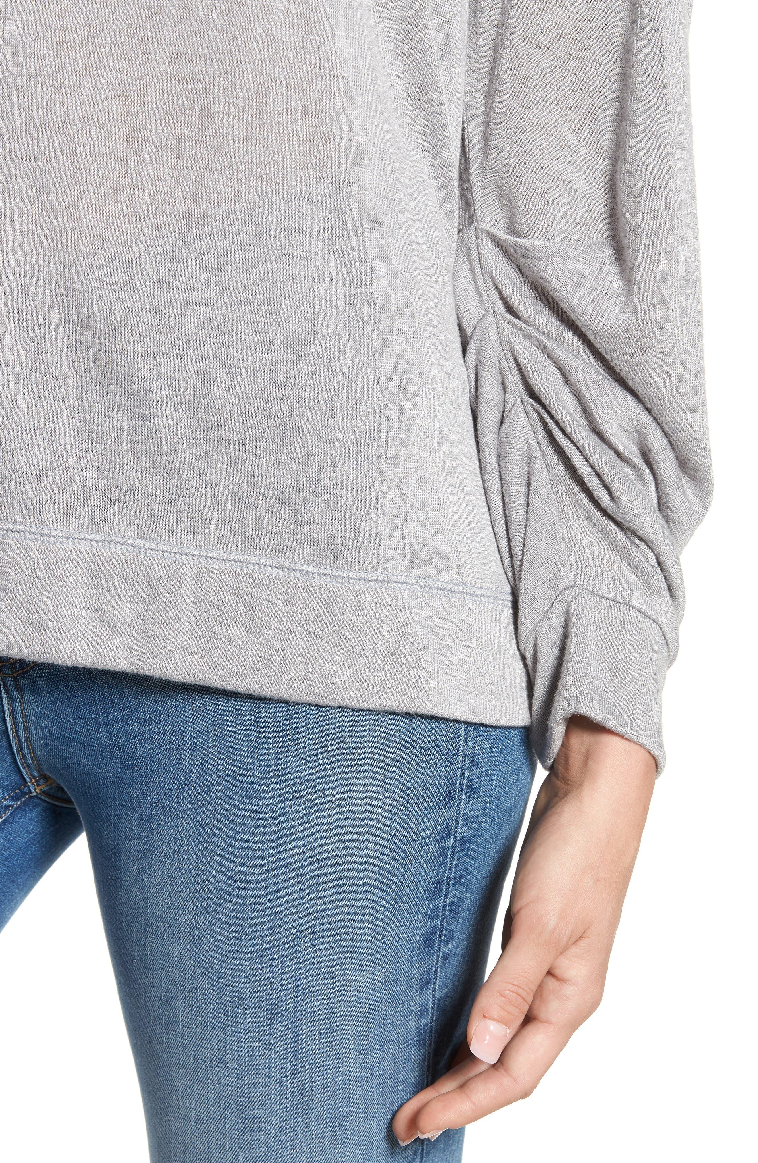 Tuck Sleeve Sweatshirt,                             Alternate thumbnail 21, color,