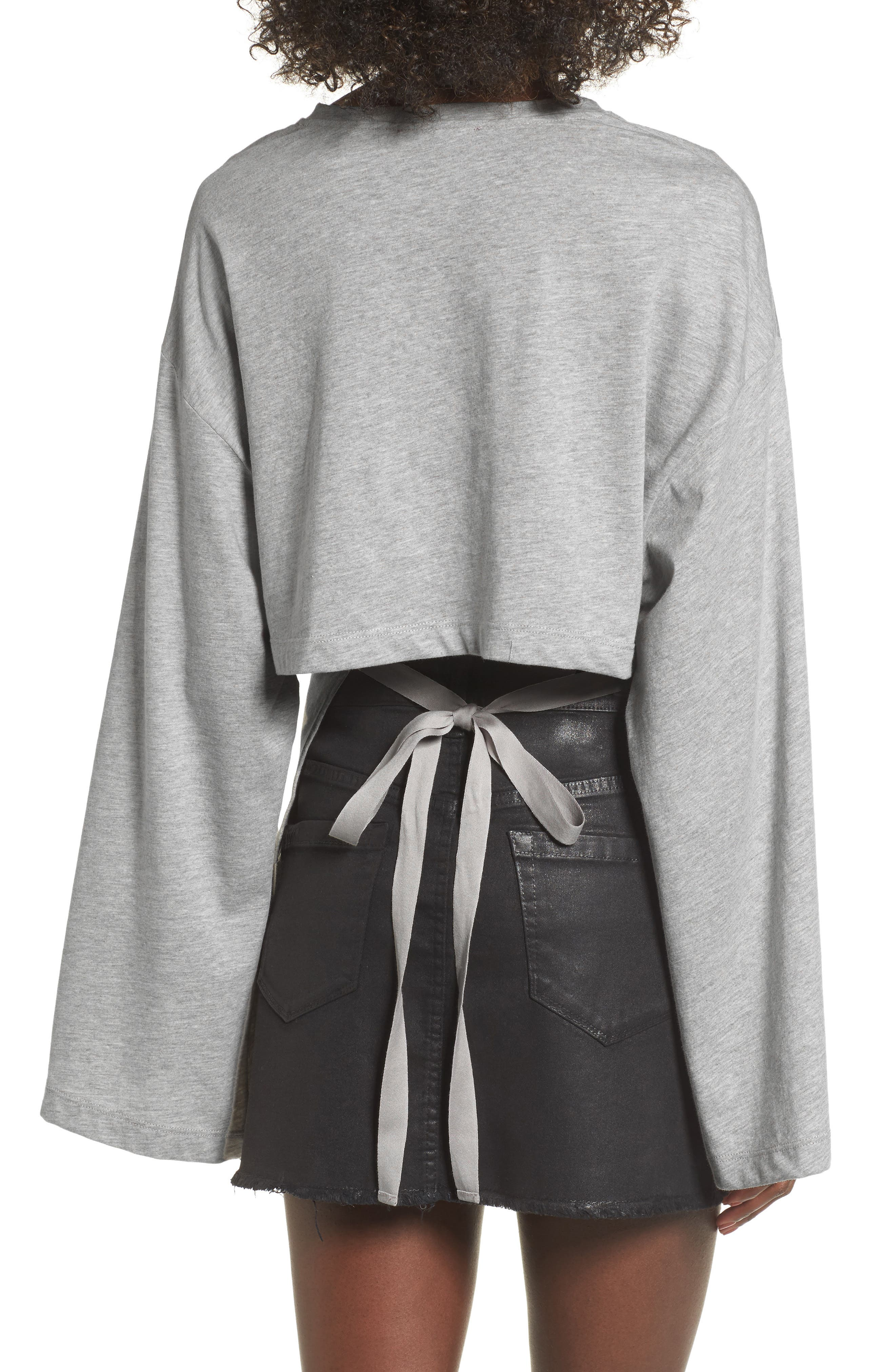 Tie Back Bell Sleeve Top,                             Alternate thumbnail 2, color,                             035