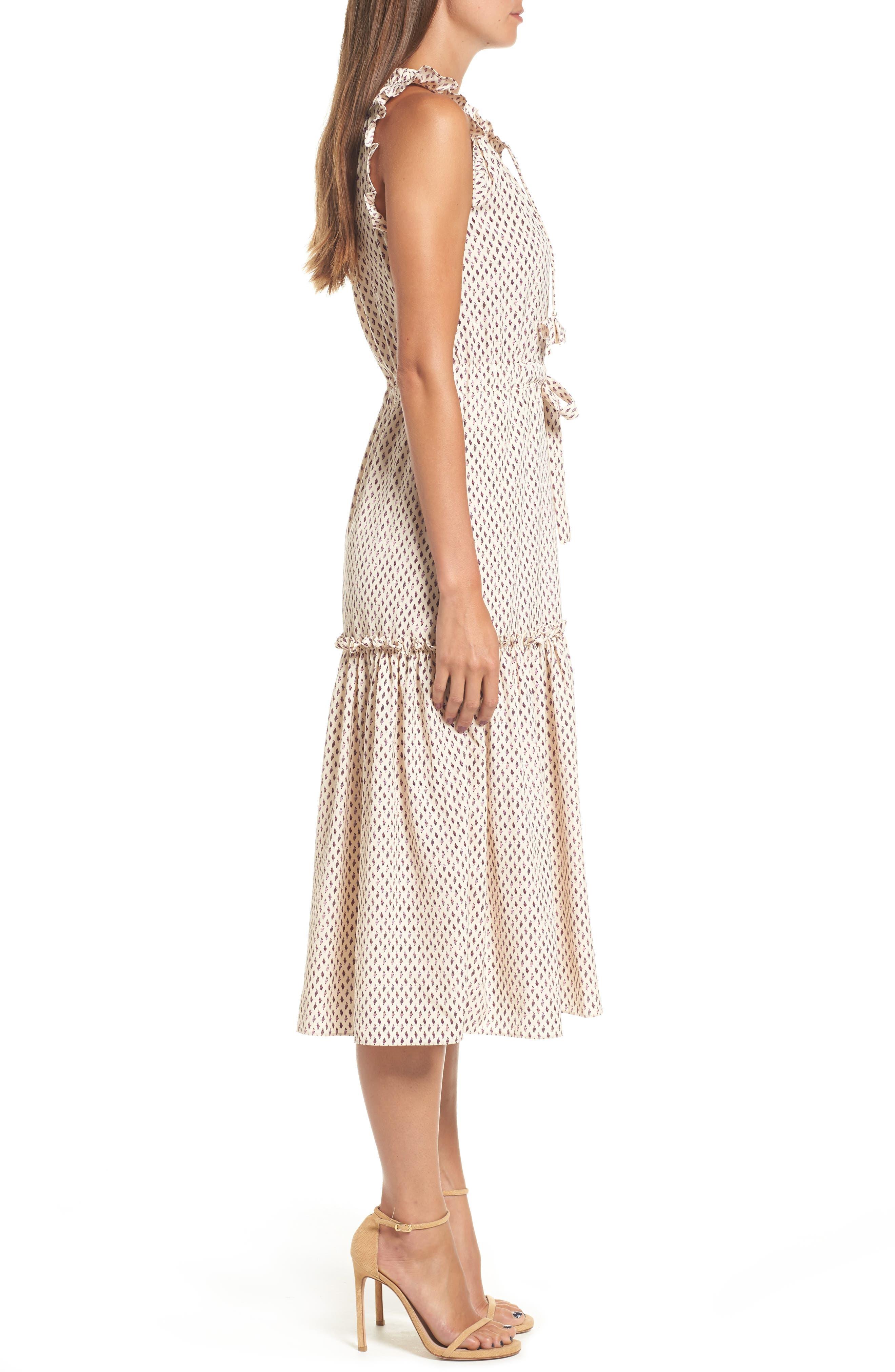 Martina Midi Dress,                             Alternate thumbnail 3, color,                             901