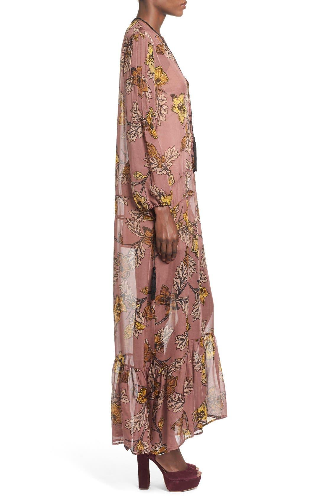'Santa Rosa' Silk Maxi Dress,                             Alternate thumbnail 2, color,                             660
