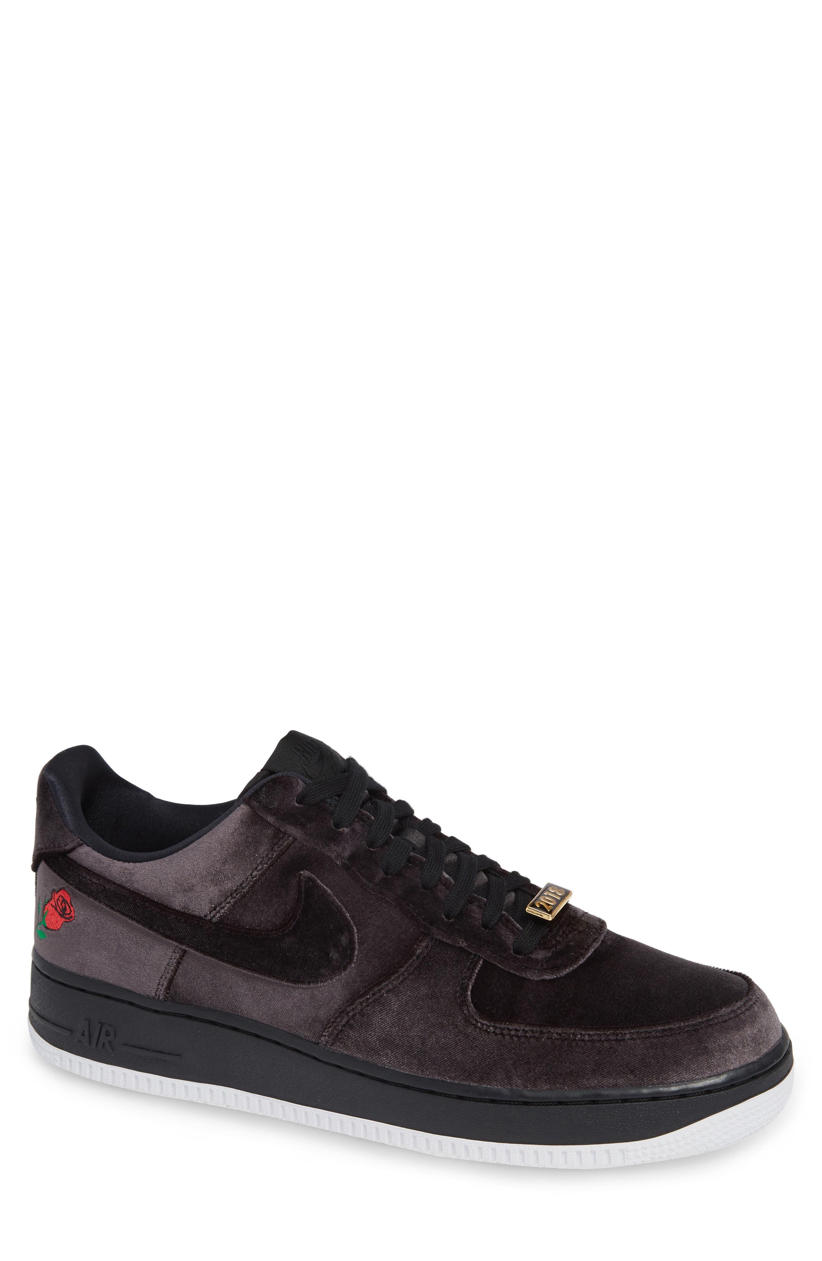 Air Force 1 '07 QS Sneaker,                         Main,                         color, BLACK/ BLACK/ WHITE