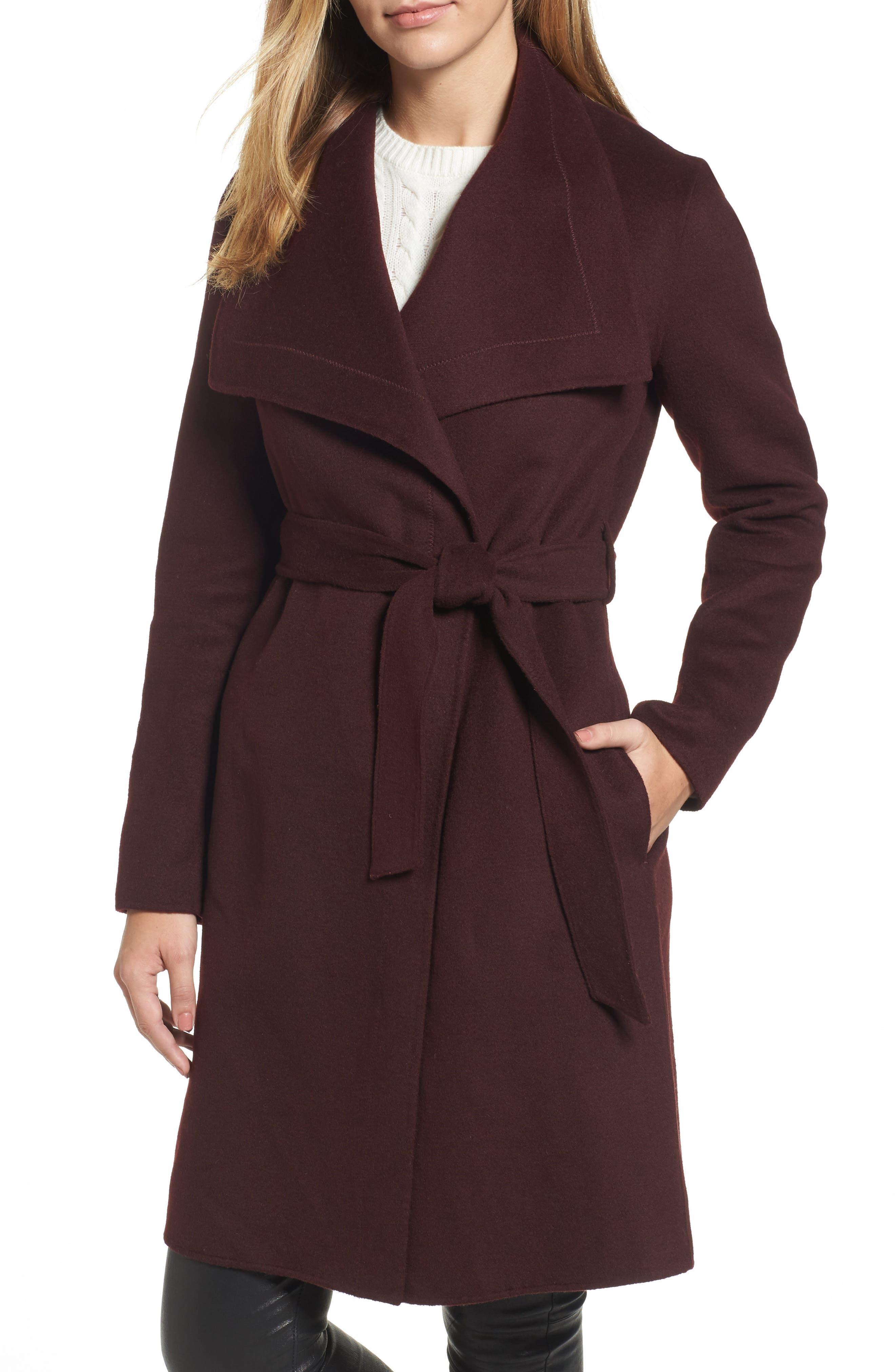 Ellie Double Face Wool Blend Wrap Coat,                             Main thumbnail 3, color,