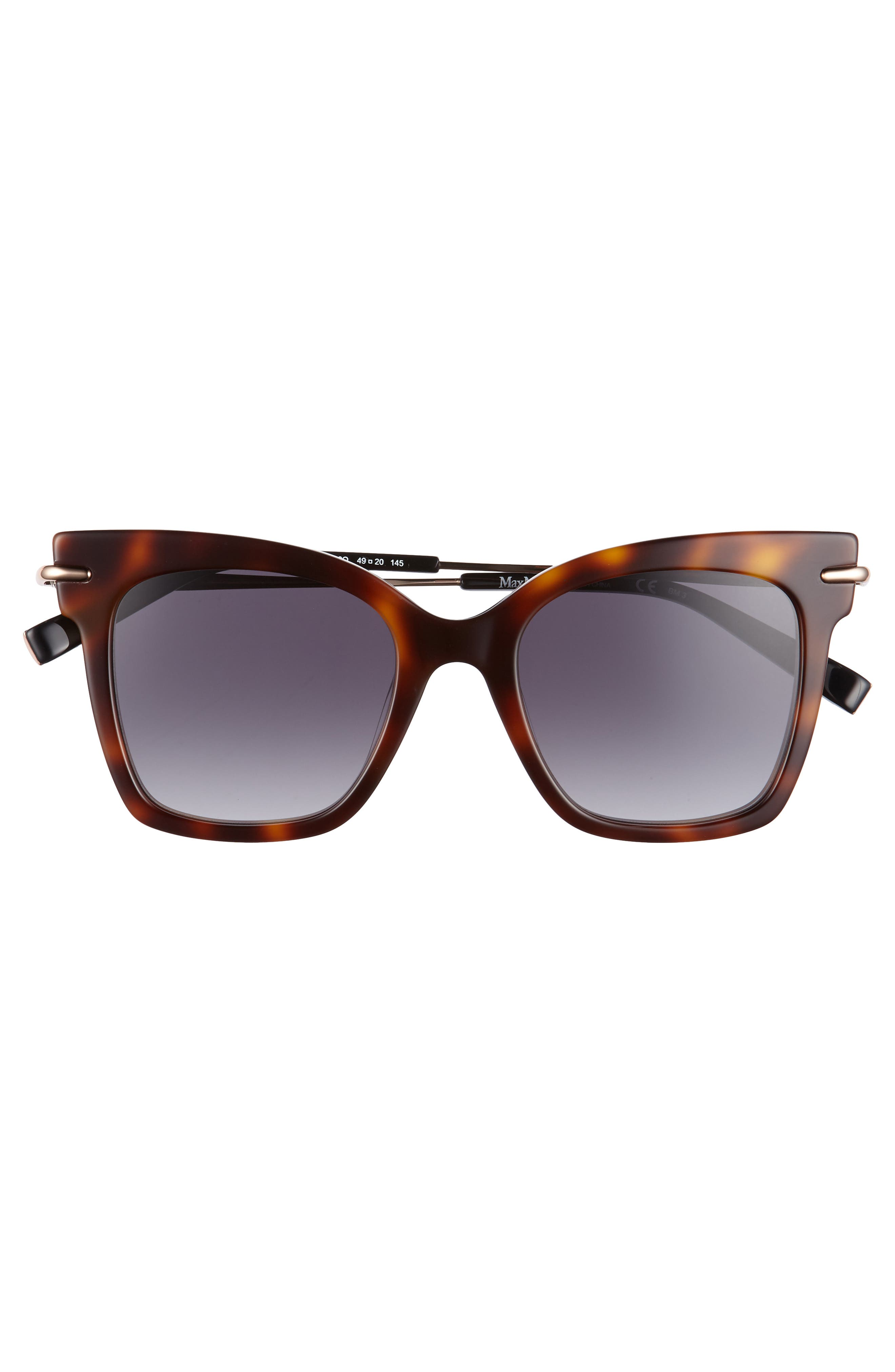 Needliv 49mm Gradient Cat Eye Sunglasses,                             Alternate thumbnail 3, color,                             001