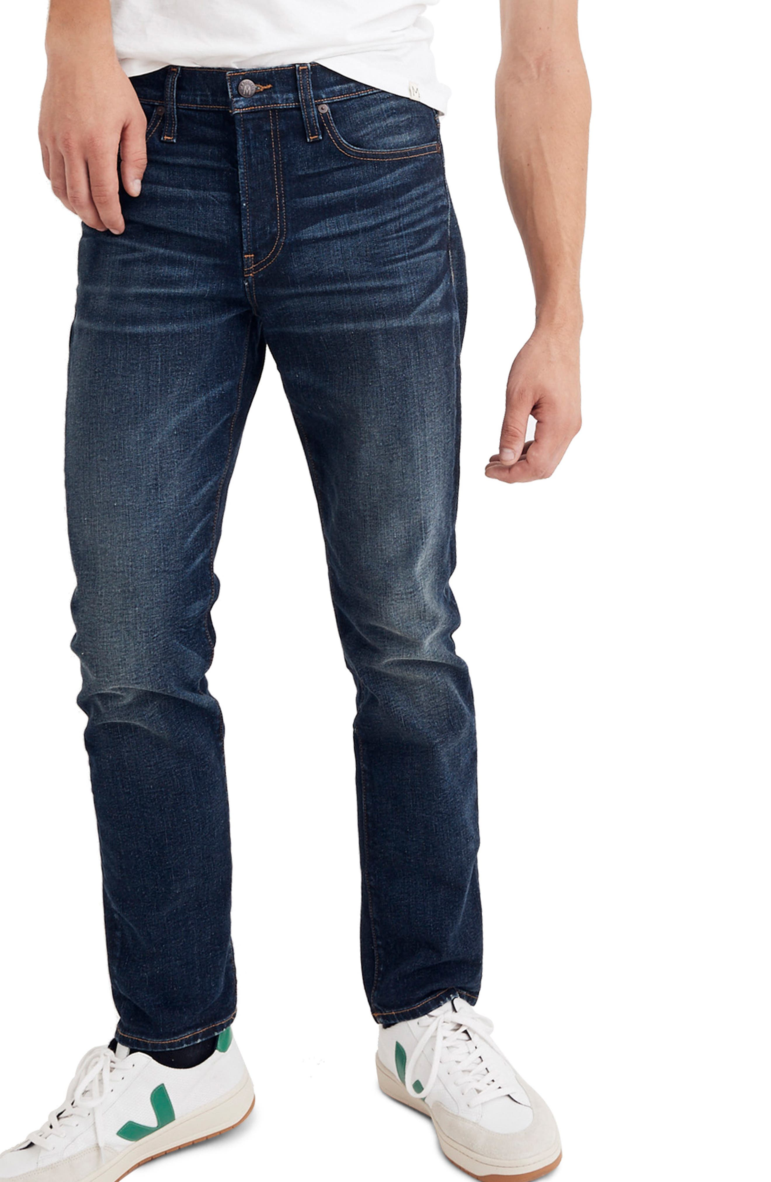 Slim Straight Fit Jeans,                         Main,                         color, MARKET