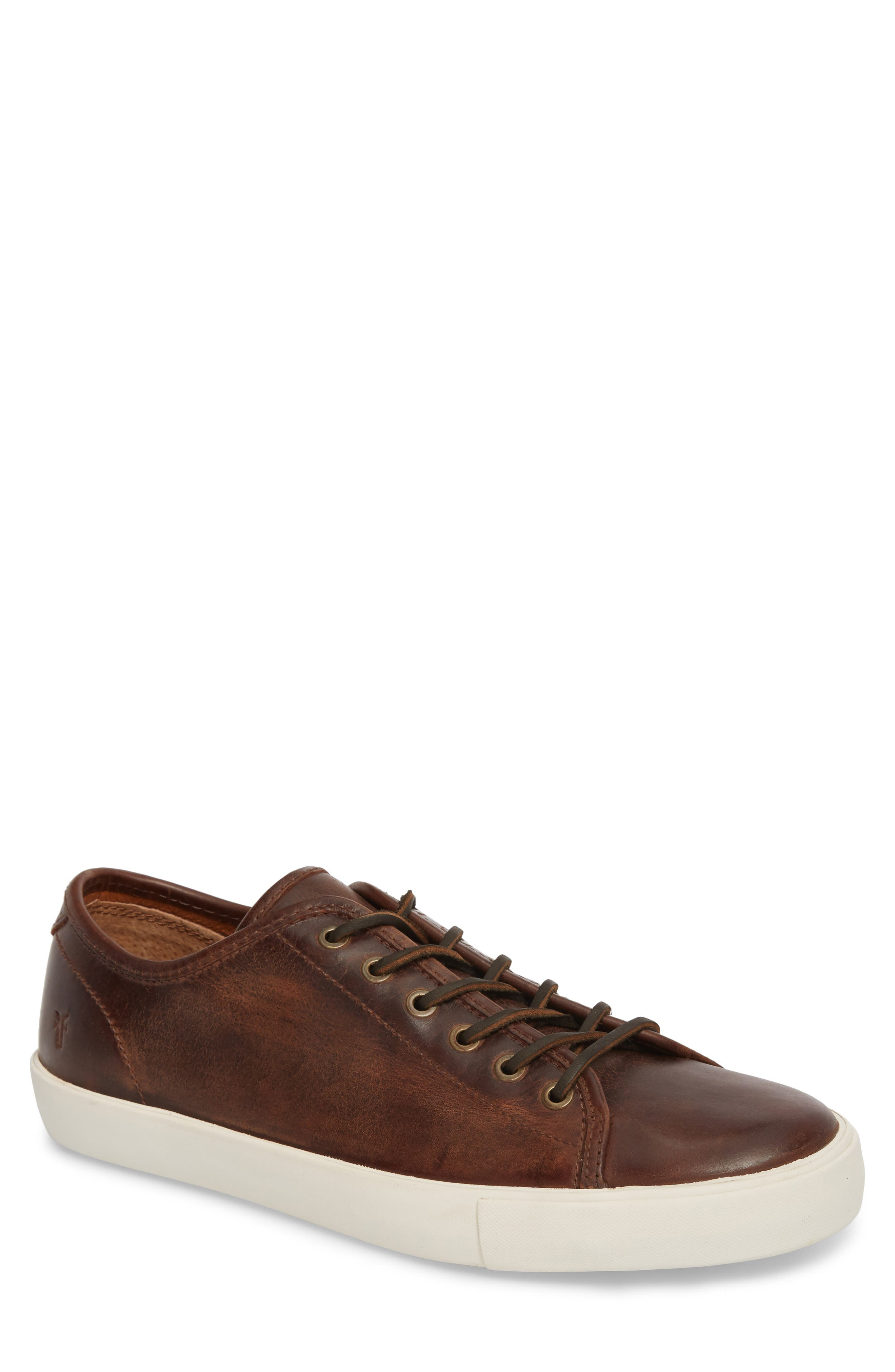 Brett Sneaker,                         Main,                         color, REDWOOD LEATHER