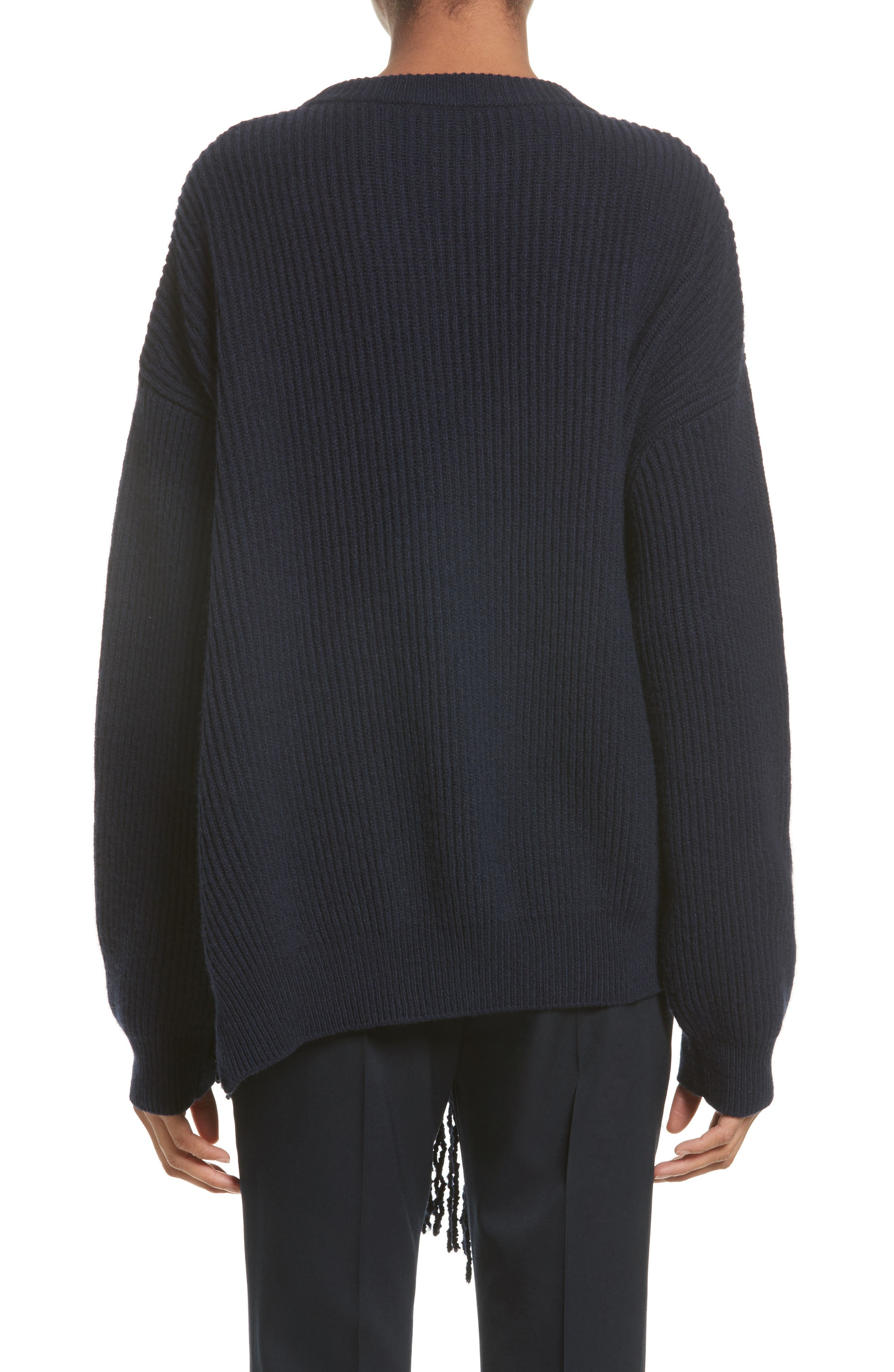 Cashmere & Wool Fringe Sweater,                             Alternate thumbnail 2, color,                             410
