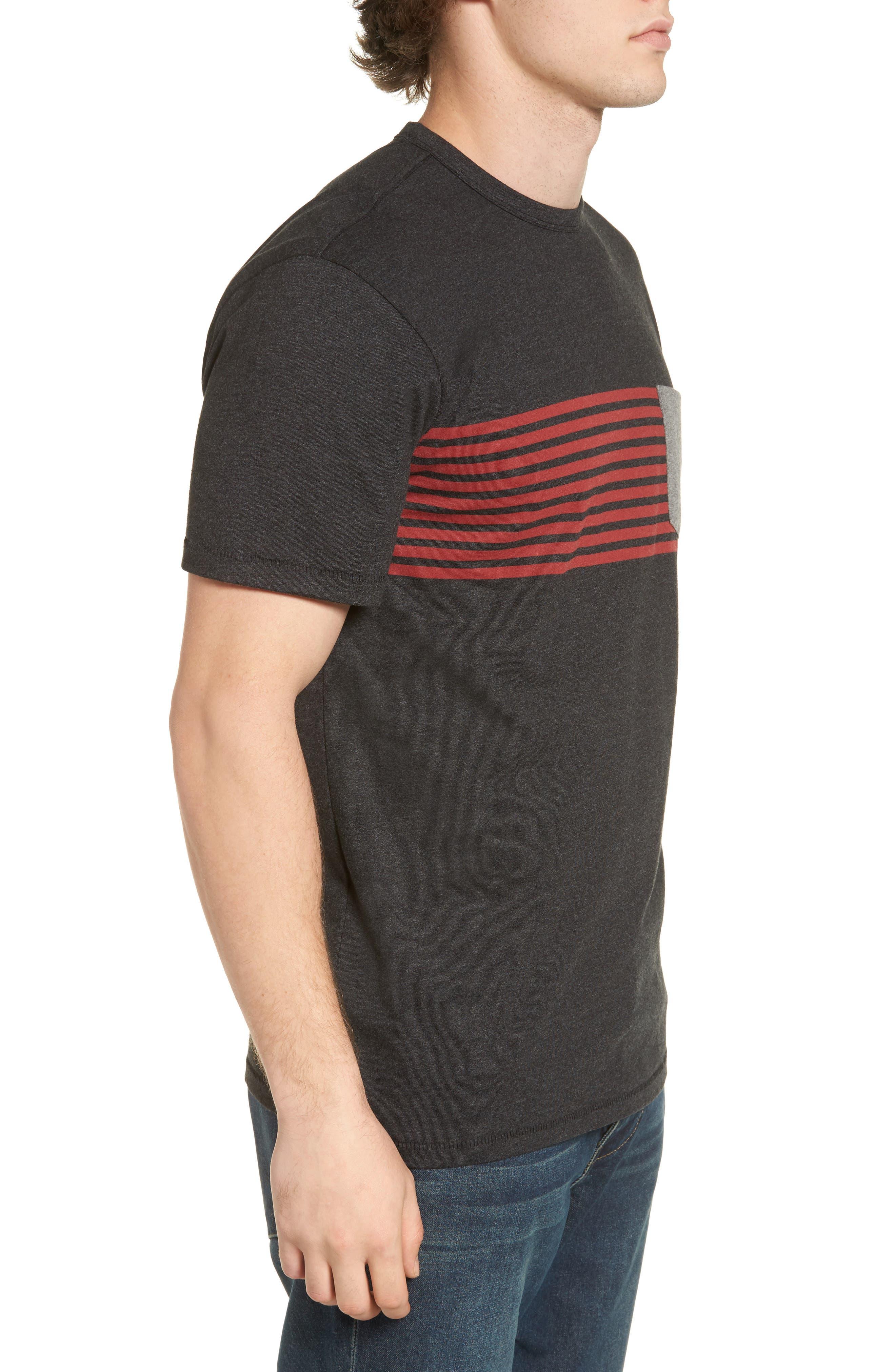 Rodgers Striped Pocket T-Shirt,                             Alternate thumbnail 3, color,                             001