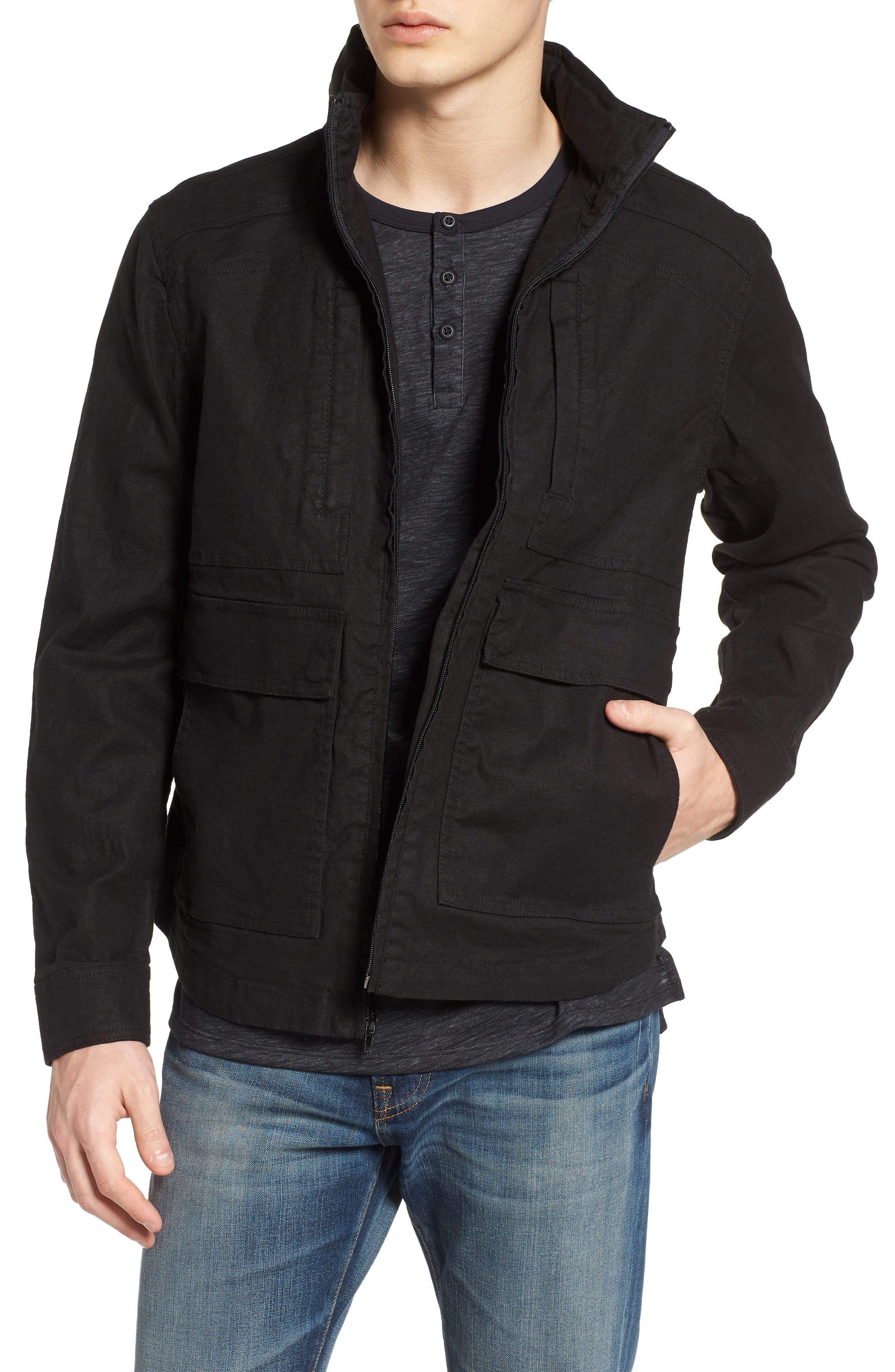 Linen Blend Zip Jacket,                         Main,                         color,