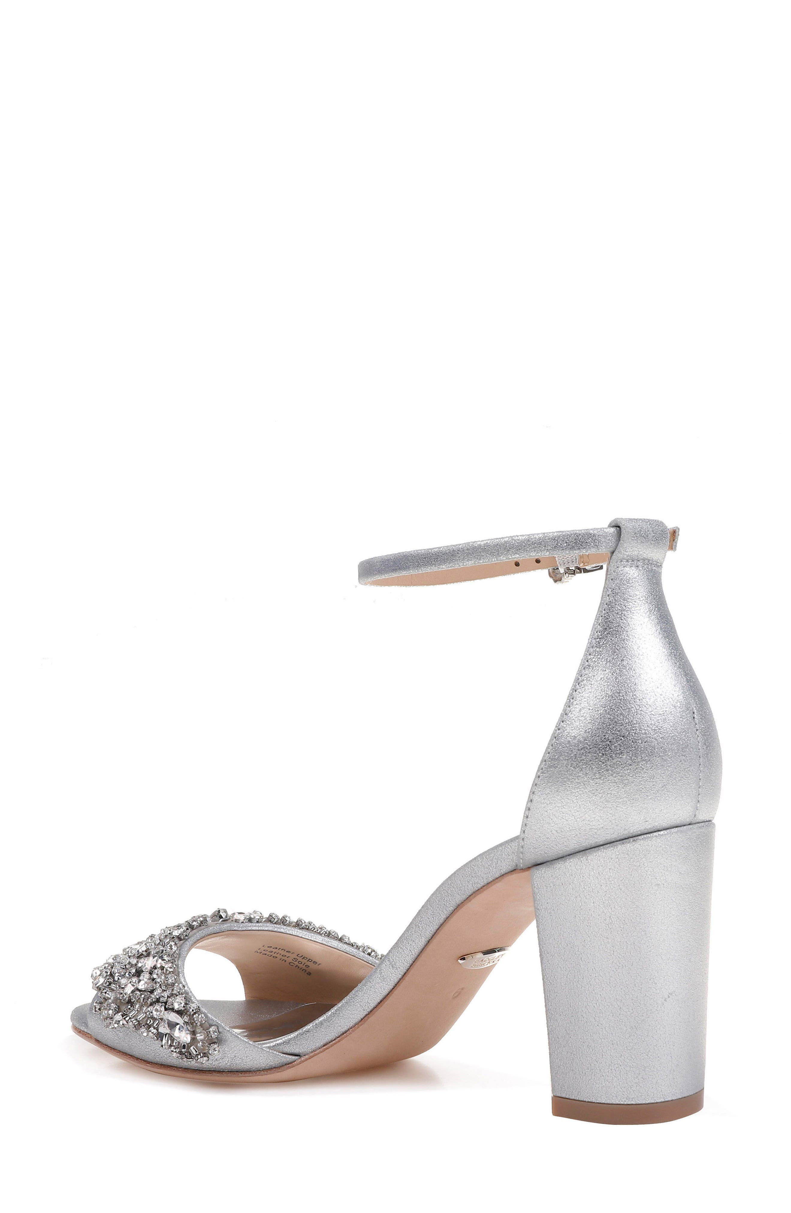Hines Embellished Block Heel Sandal,                             Alternate thumbnail 7, color,