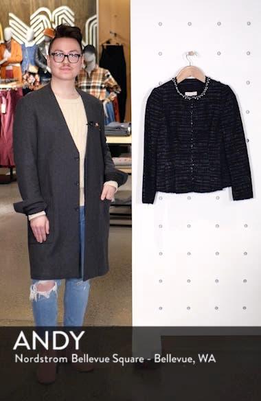 Embellished Stretch Tweed Jacket, sales video thumbnail
