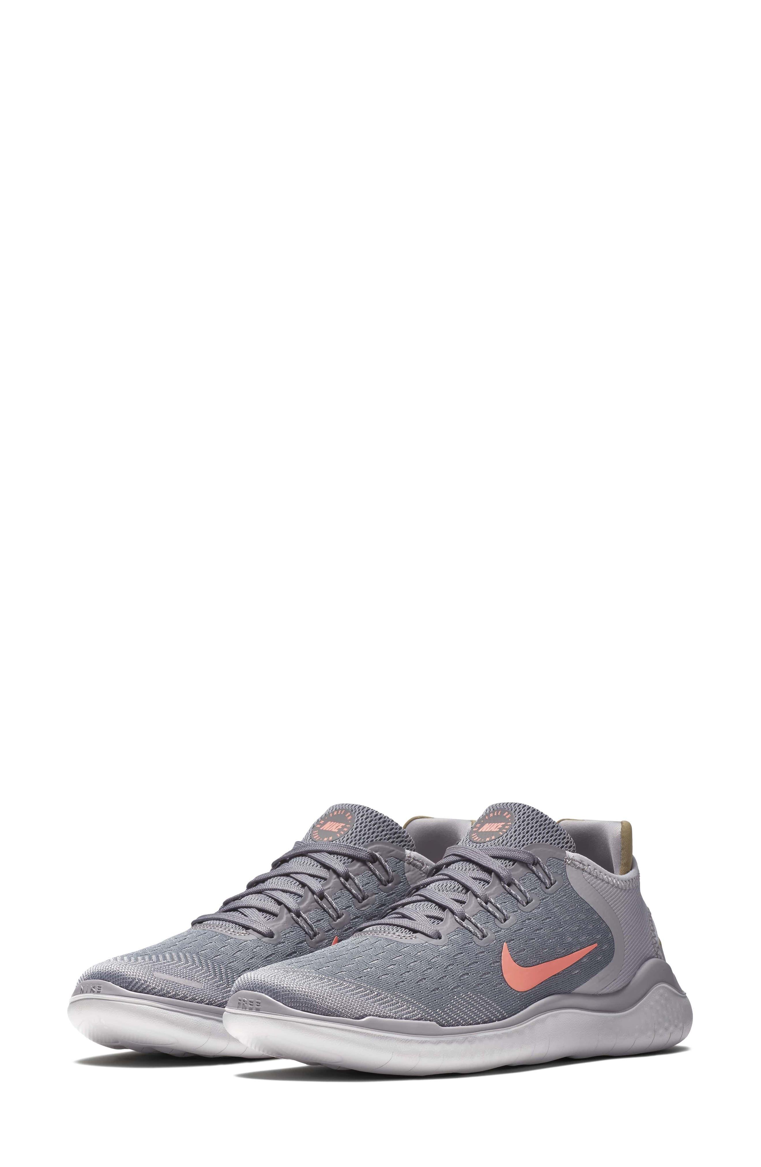 Free RN 2018 Running Shoe,                         Main,                         color, SMOKE/ CRIMSON PULSE