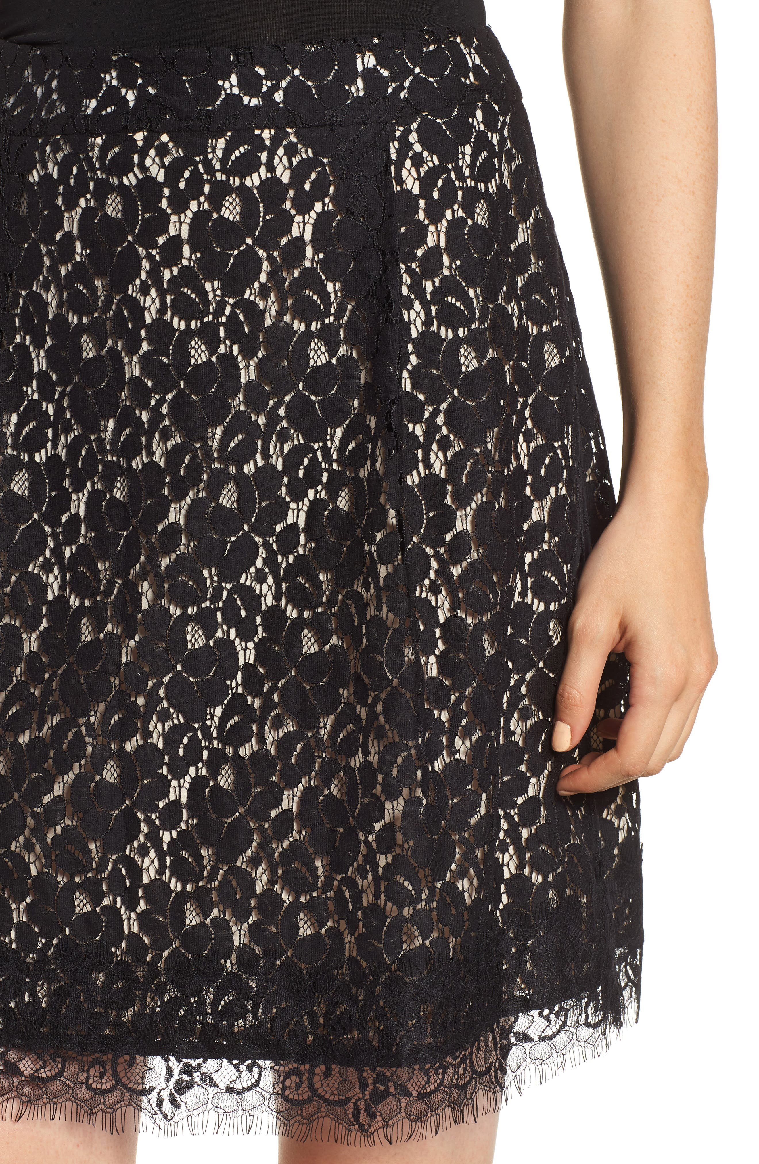 GIBSON,                             x Glam Squad Lace Skirt,                             Alternate thumbnail 5, color,                             017