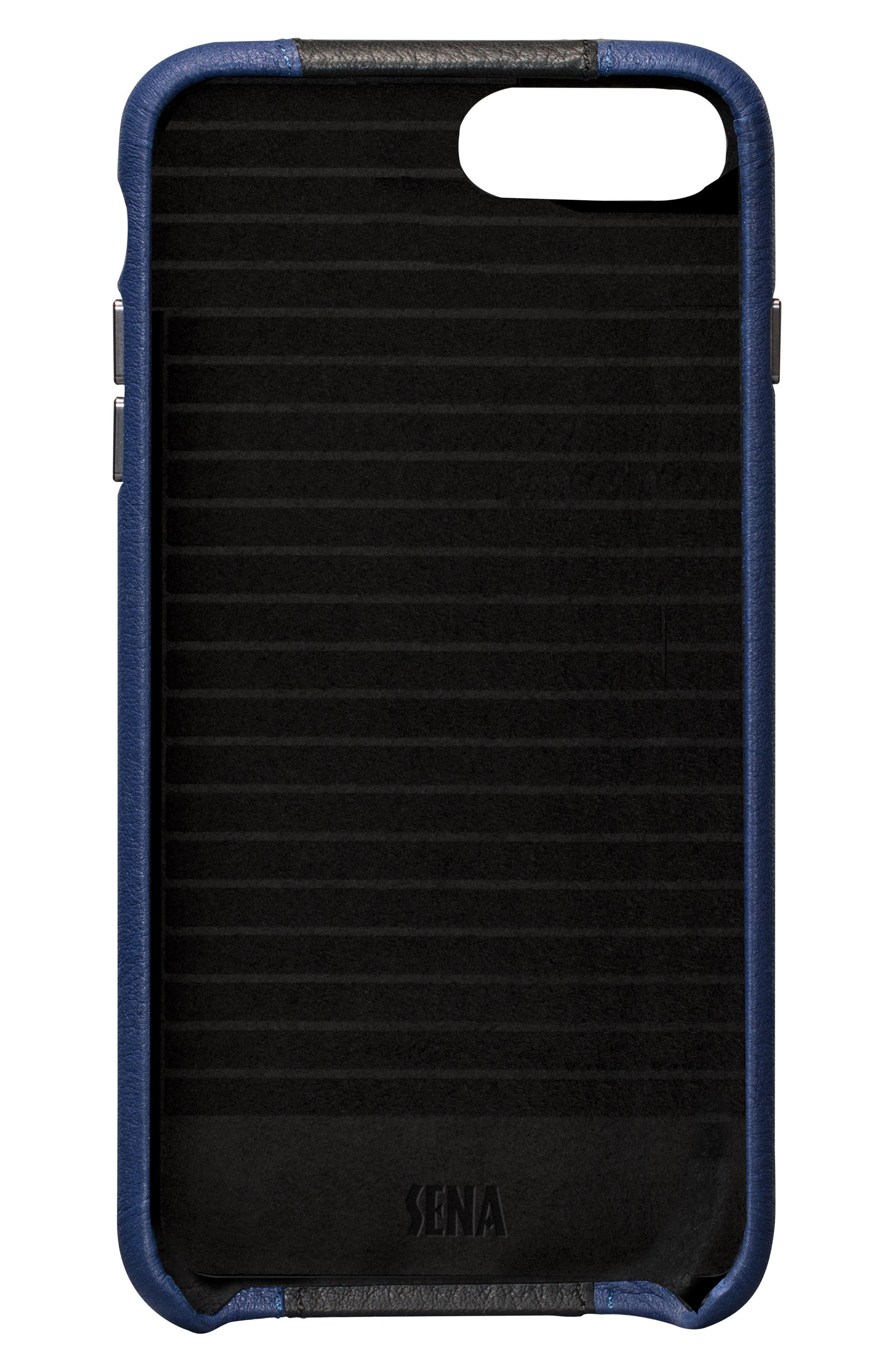 Racer iPhone 7 & 8 Plus Case,                             Alternate thumbnail 2, color,                             BLACK/ BLUE
