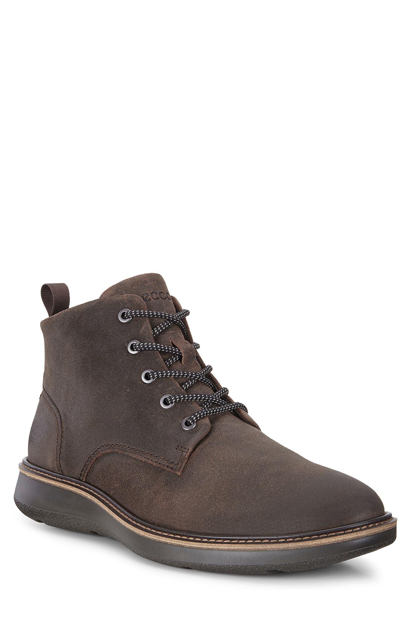 Aurora Plain Toe Boot,                         Main,                         color, COFFEE SUEDE