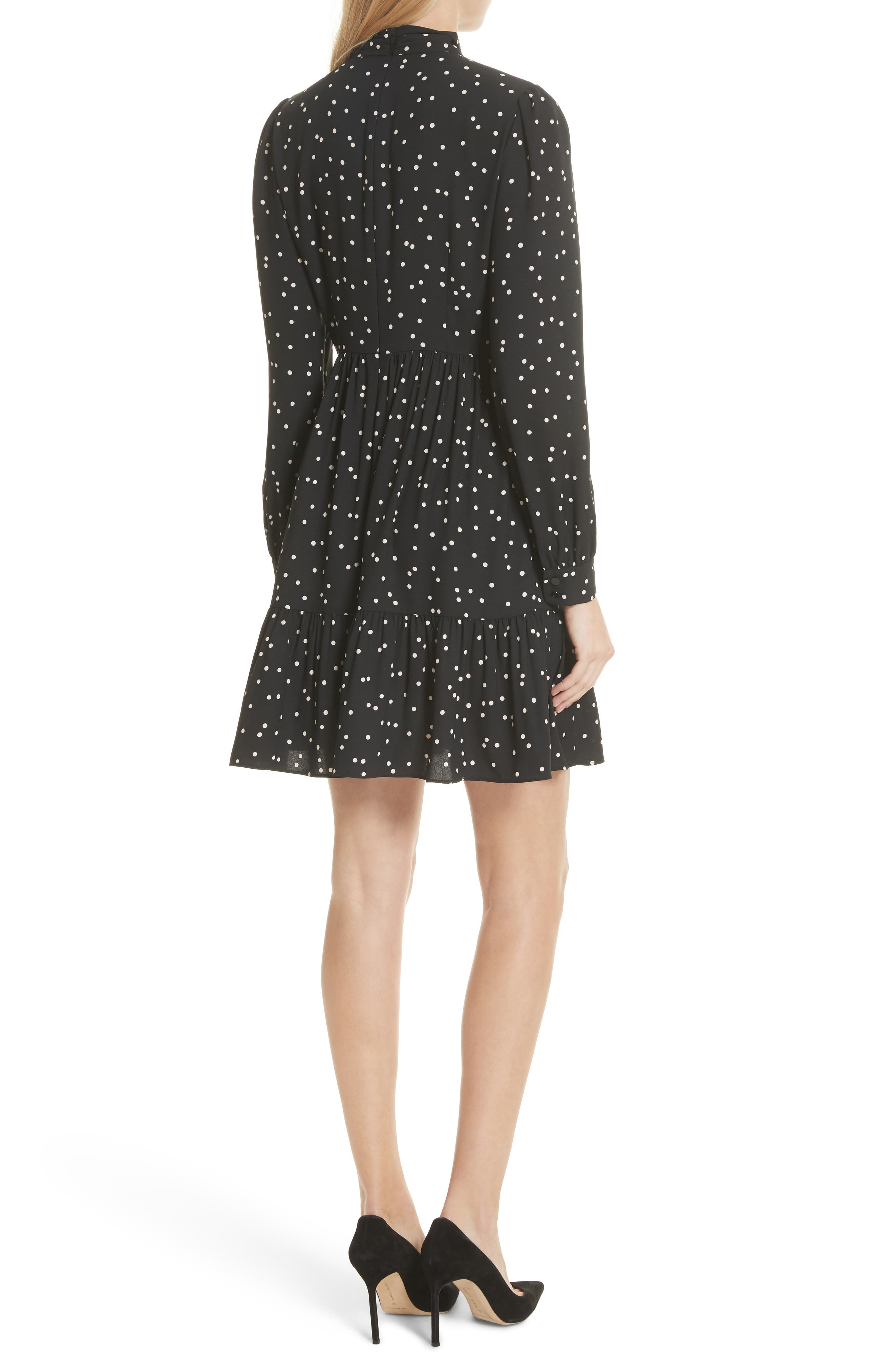 scatter dot shirtdress,                             Alternate thumbnail 2, color,                             001