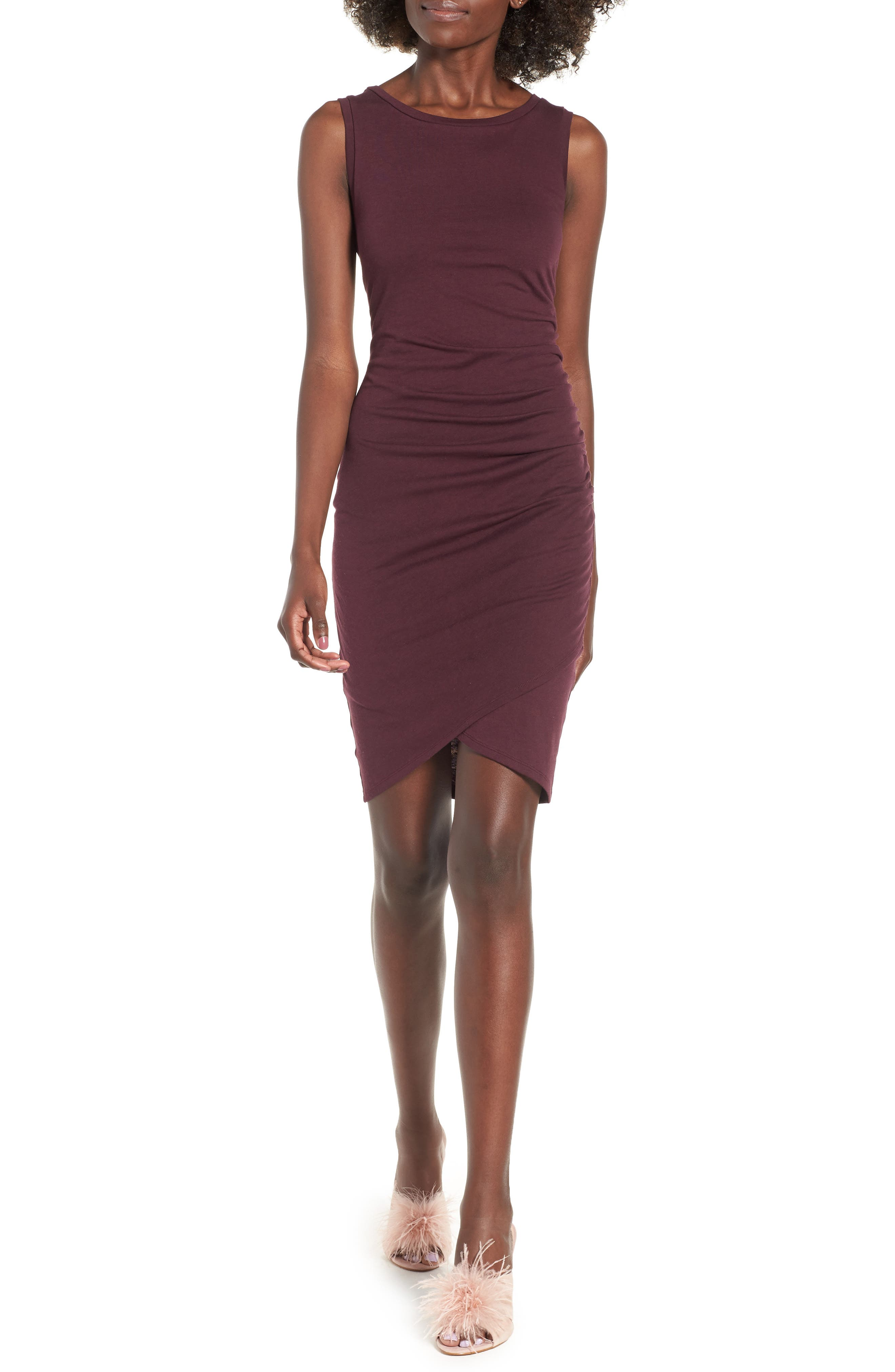 Ruched Body-Con Tank Dress,                             Alternate thumbnail 69, color,