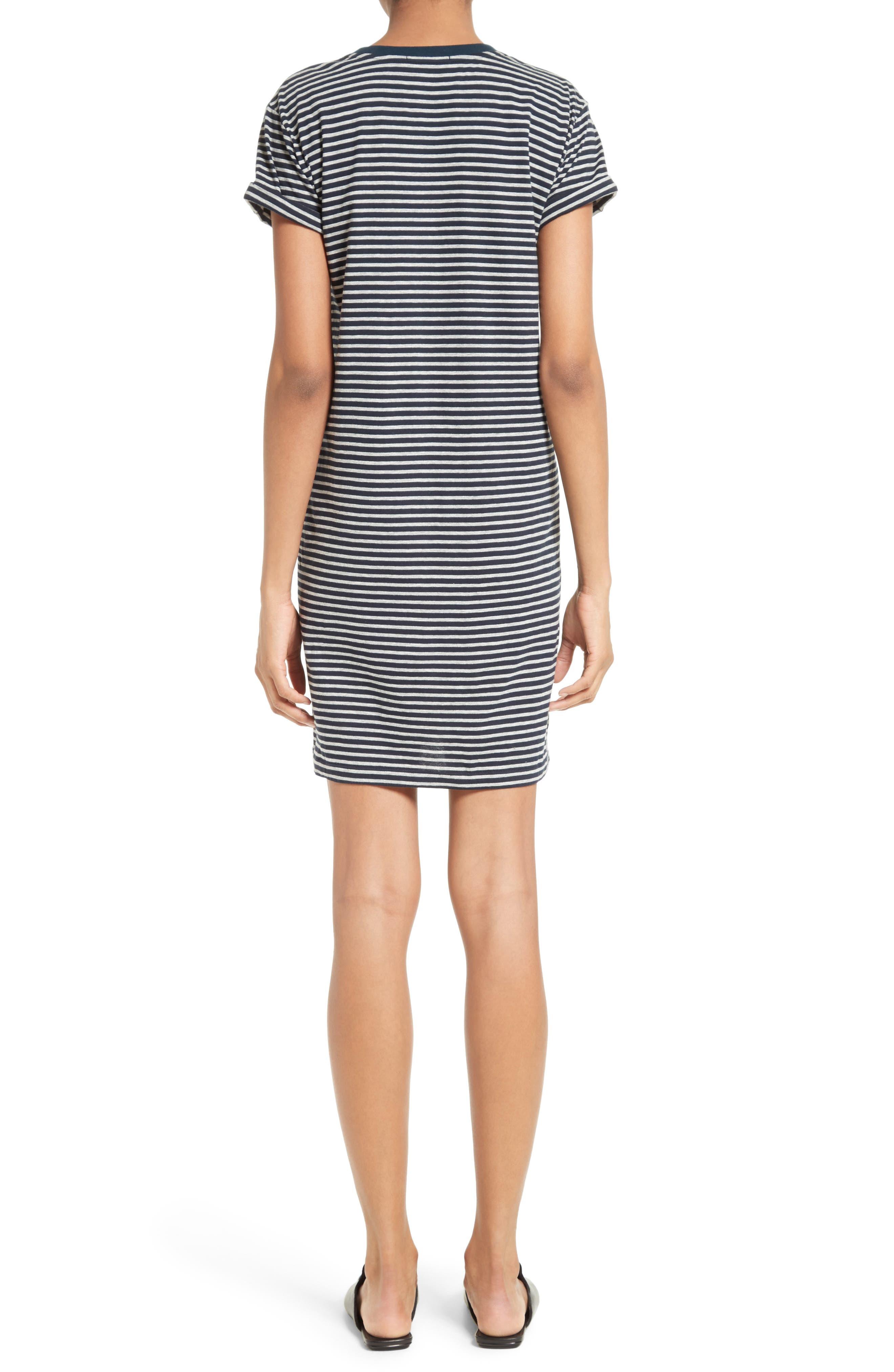 T by Alexander Wang Stripe T-Shirt Dress,                             Alternate thumbnail 2, color,                             400