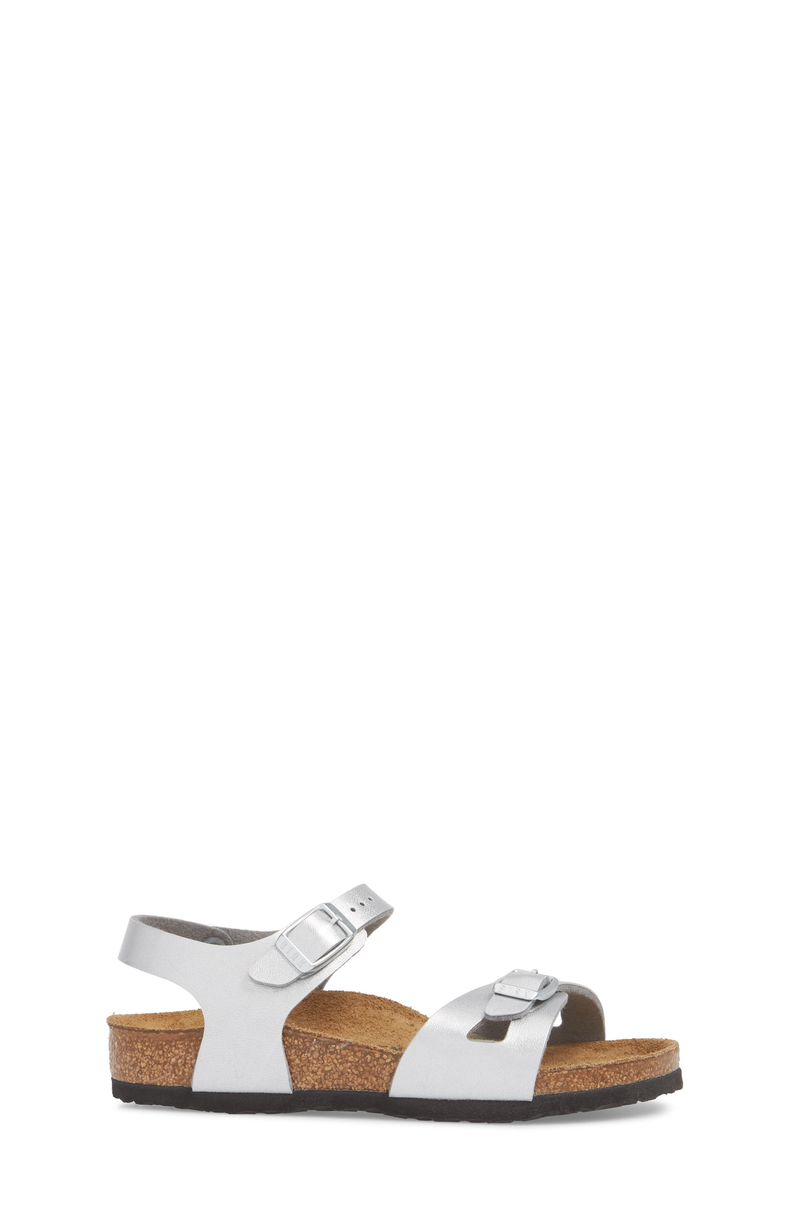 Rio Metallic Sandal,                             Alternate thumbnail 3, color,                             SILVER