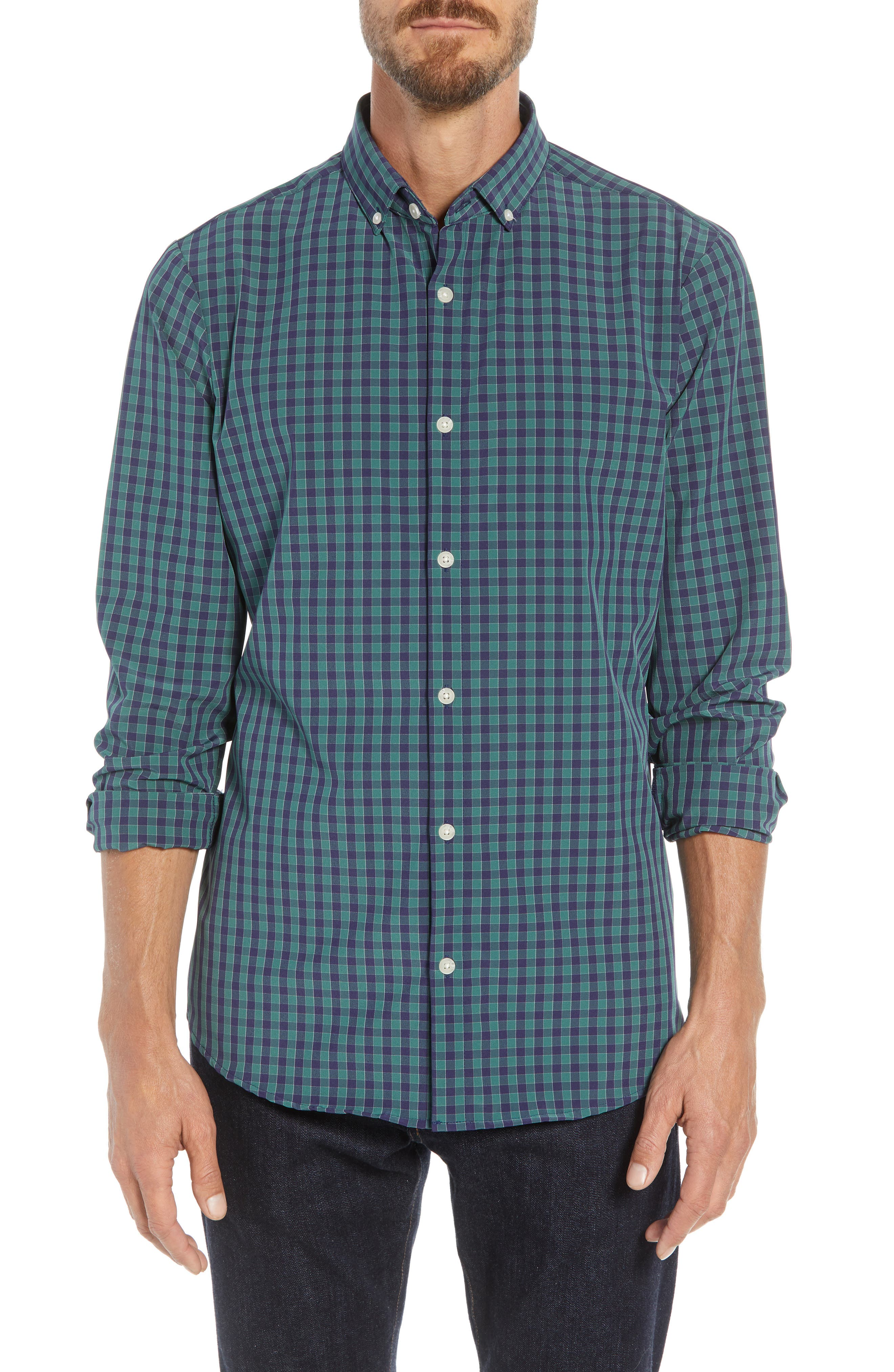 Thomson Slim Fit Sport Shirt,                             Main thumbnail 1, color,                             GREEN