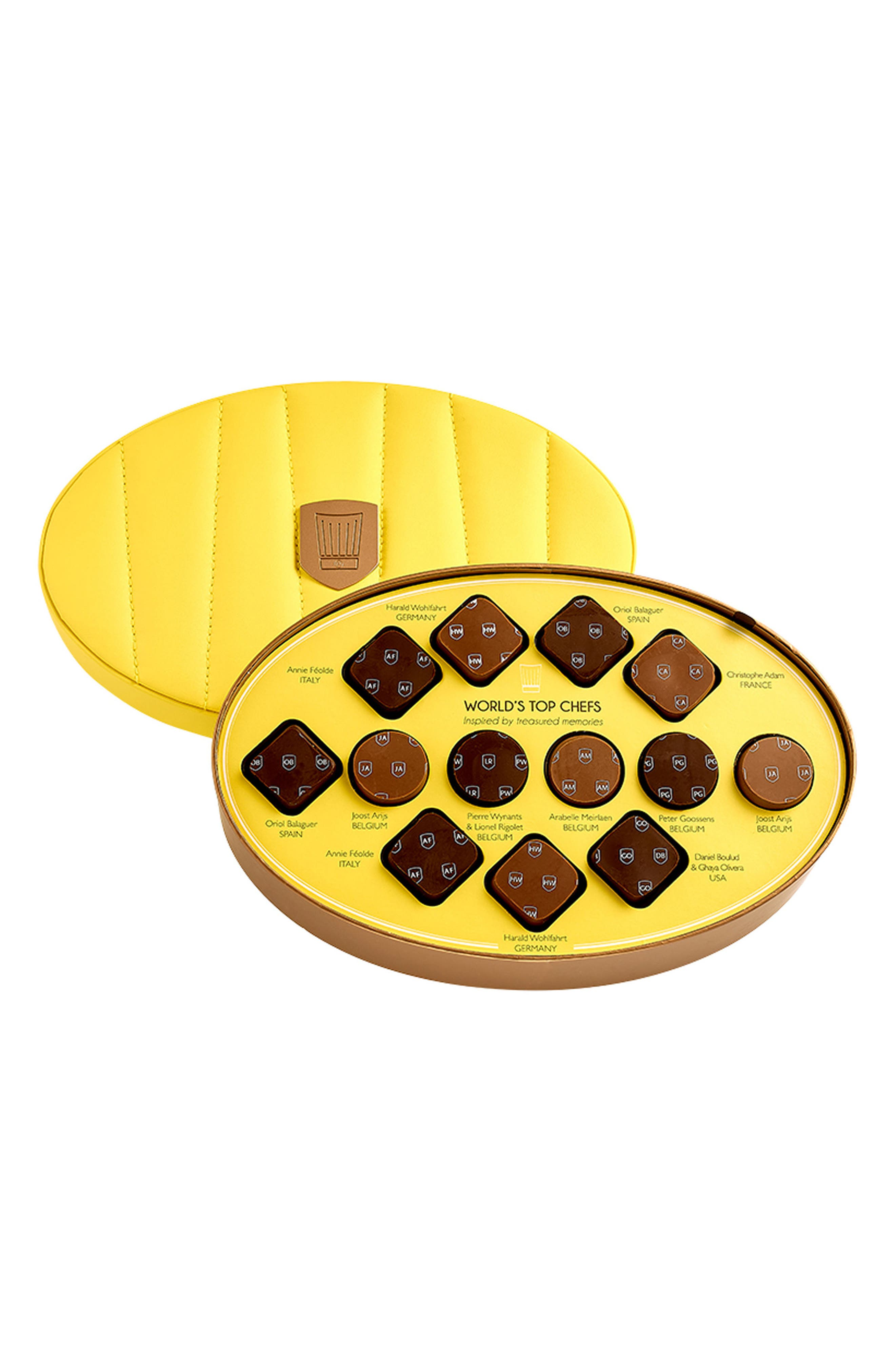 World's Top Chefs 27-Piece Chocolate Gift Set,                             Main thumbnail 1, color,                             YELLOW