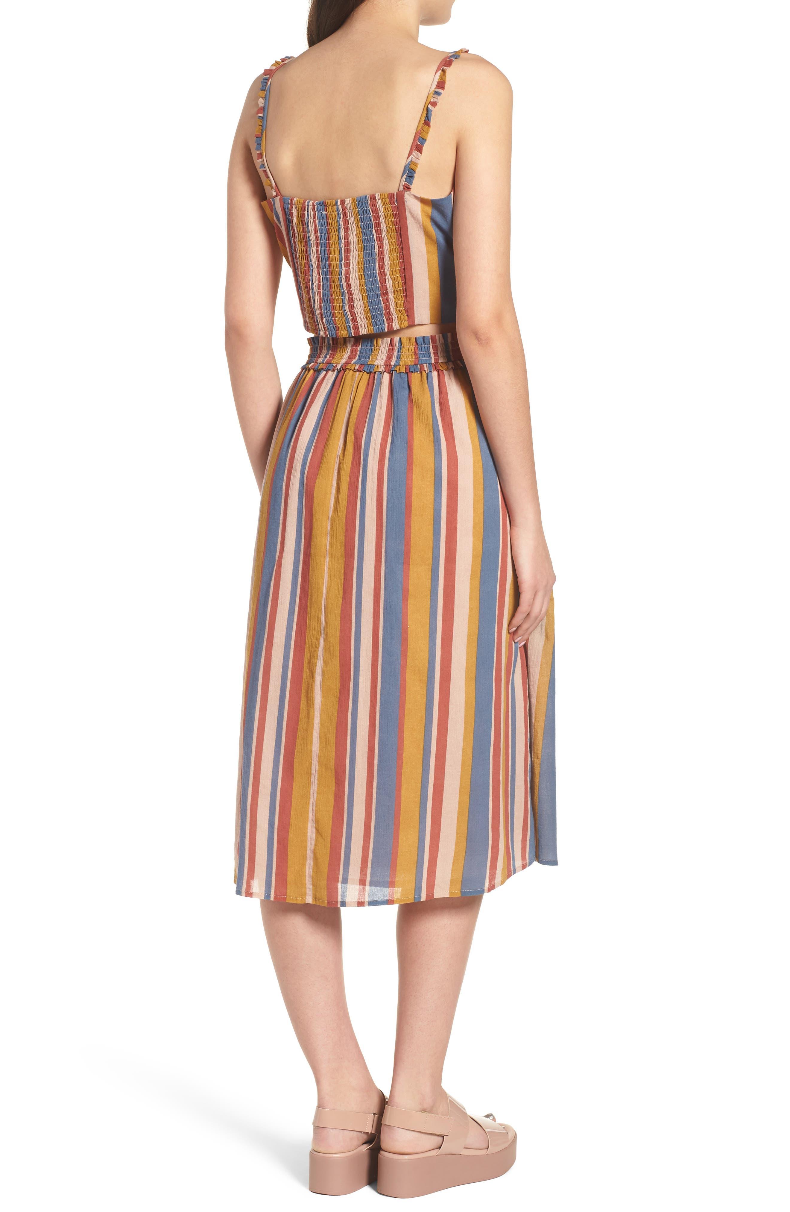 Smocked Midi Skirt,                             Alternate thumbnail 8, color,