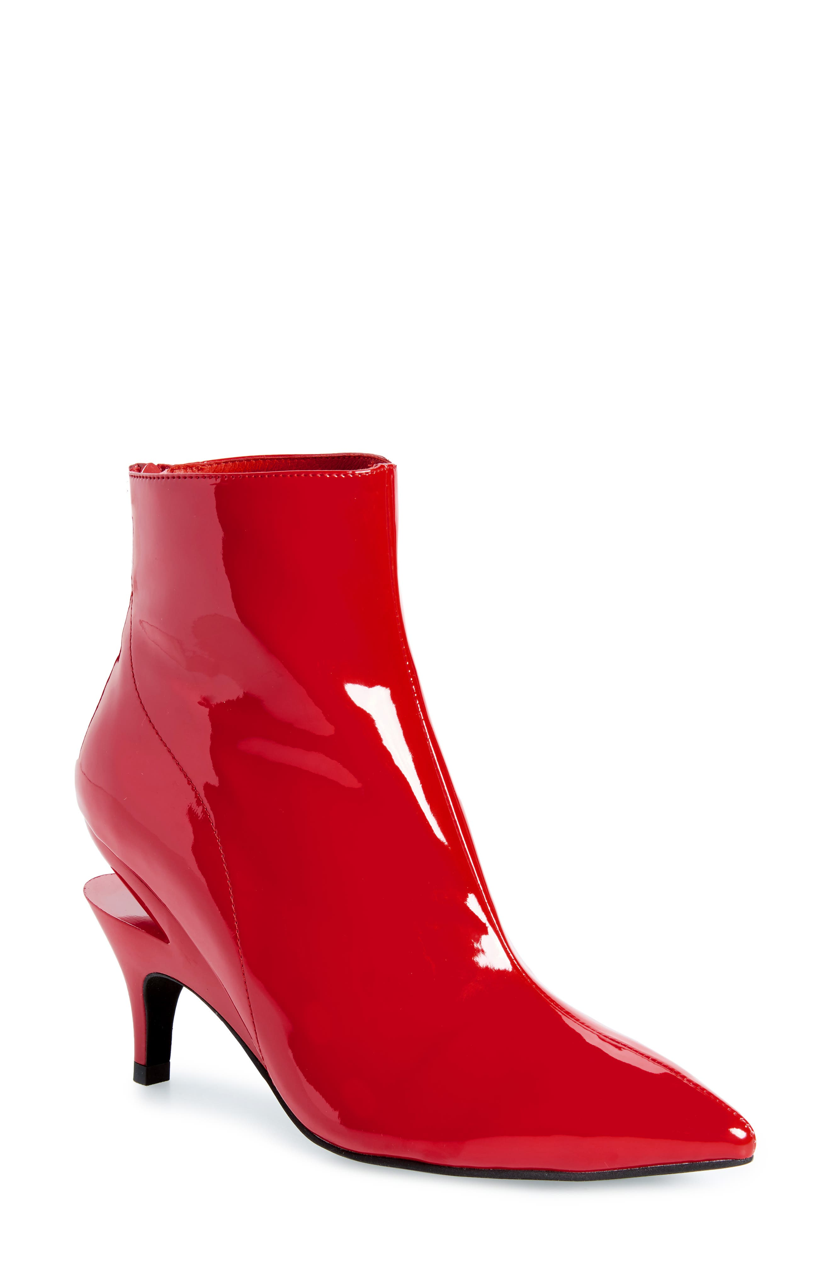 Jeffrey Campbell Museum Bootie, Red