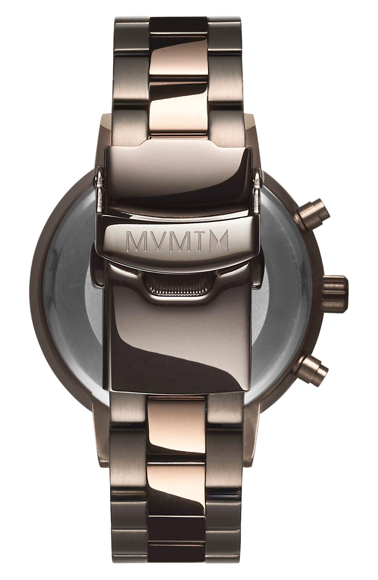 Nova Chronograph Bracelet Watch, 38mm,                             Alternate thumbnail 2, color,                             SLATE/ ROSE GOLD