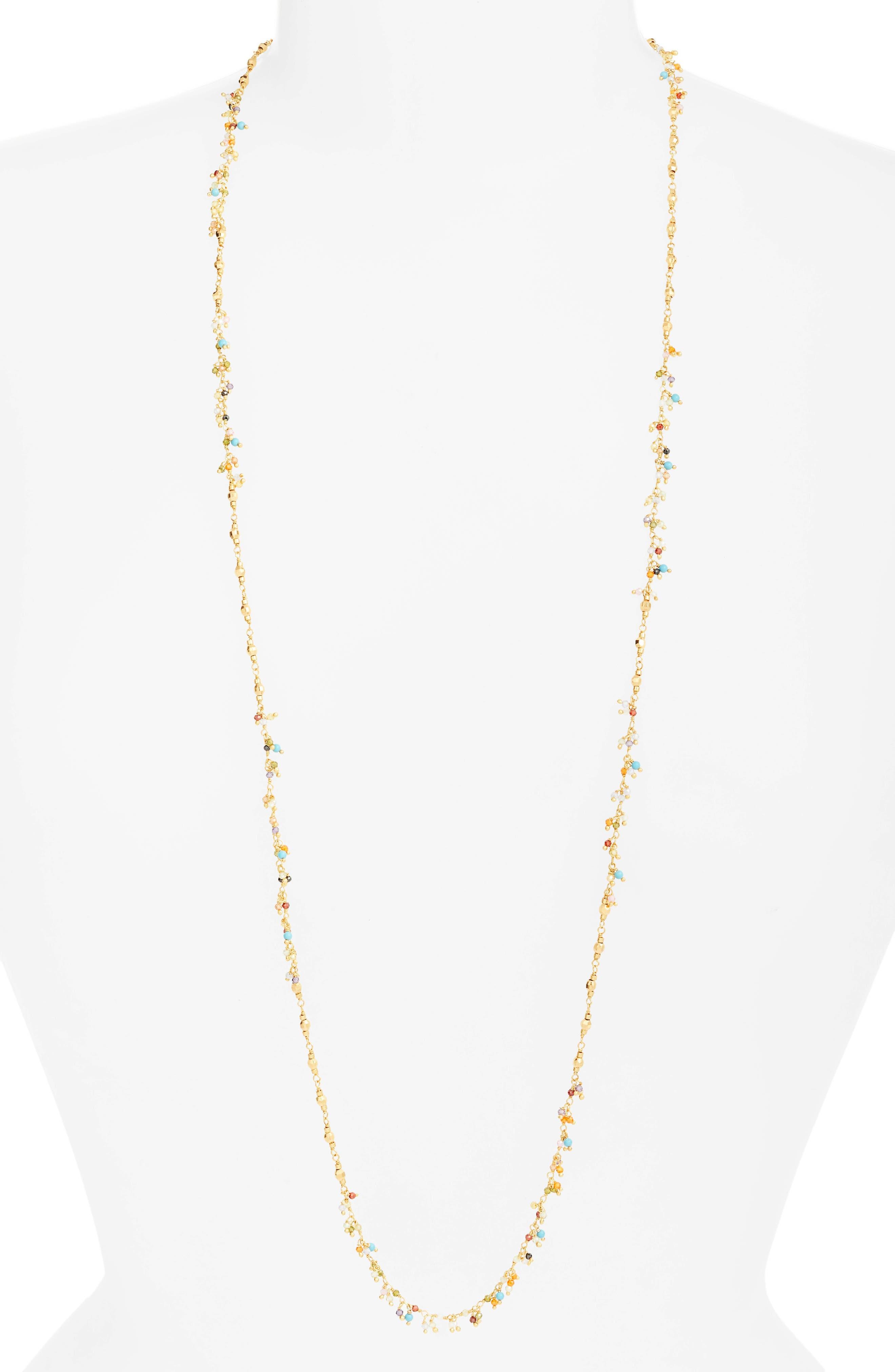 Mixed Crystal Layering Necklace,                         Main,                         color,