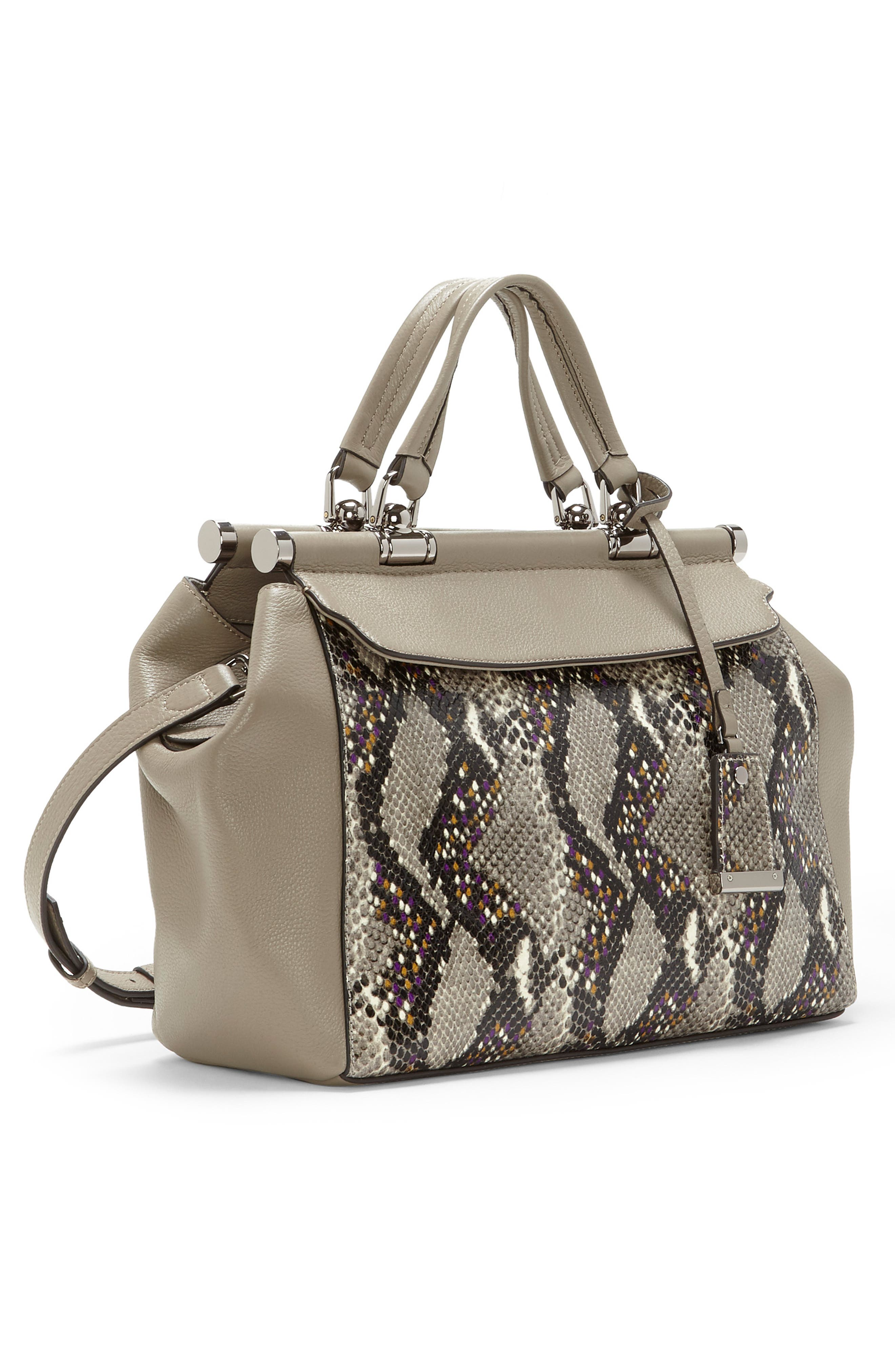 Carla Leather Satchel,                             Alternate thumbnail 4, color,                             060