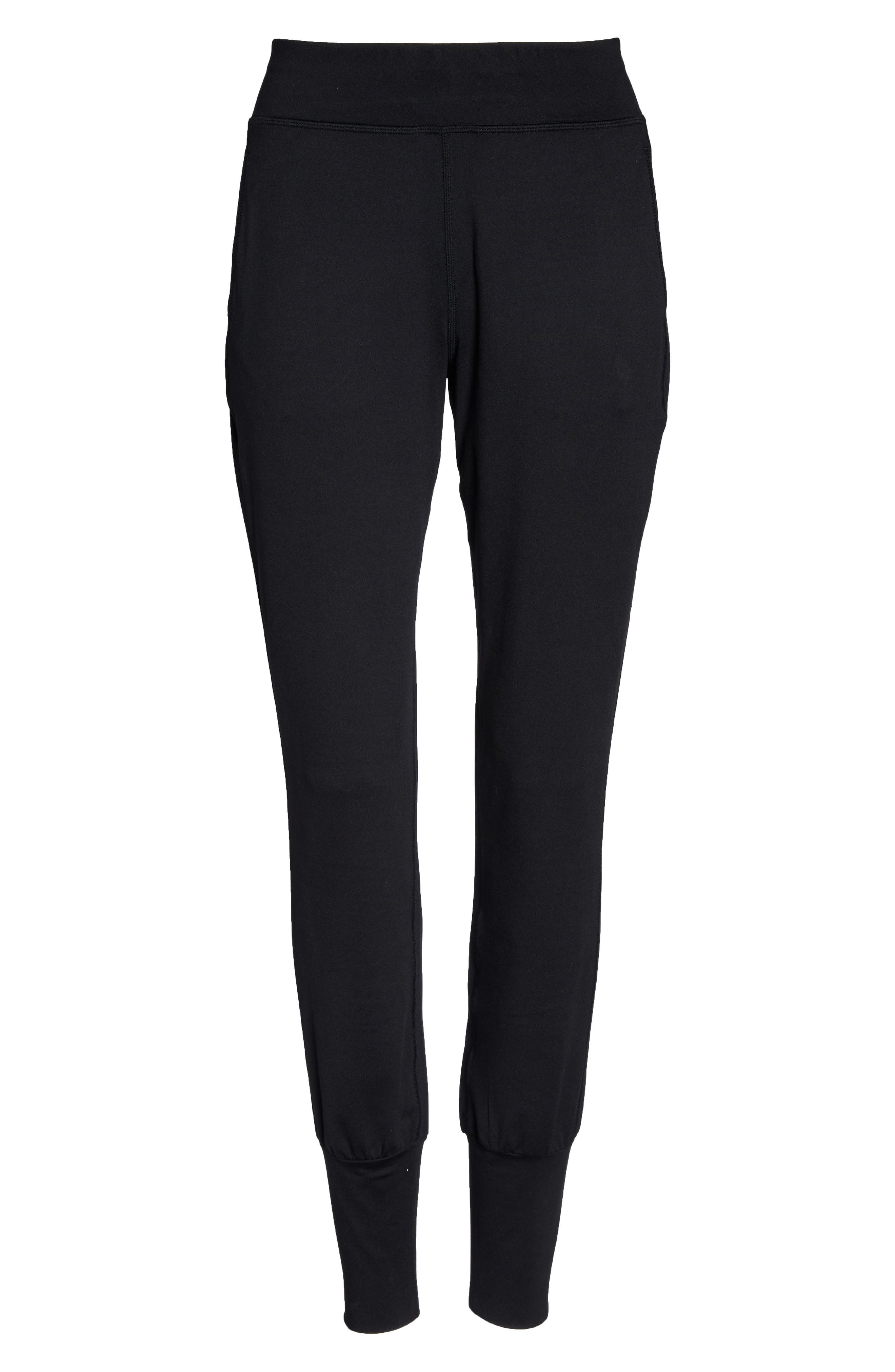 Garudasana Yoga Trousers,                             Alternate thumbnail 7, color,                             BLACK